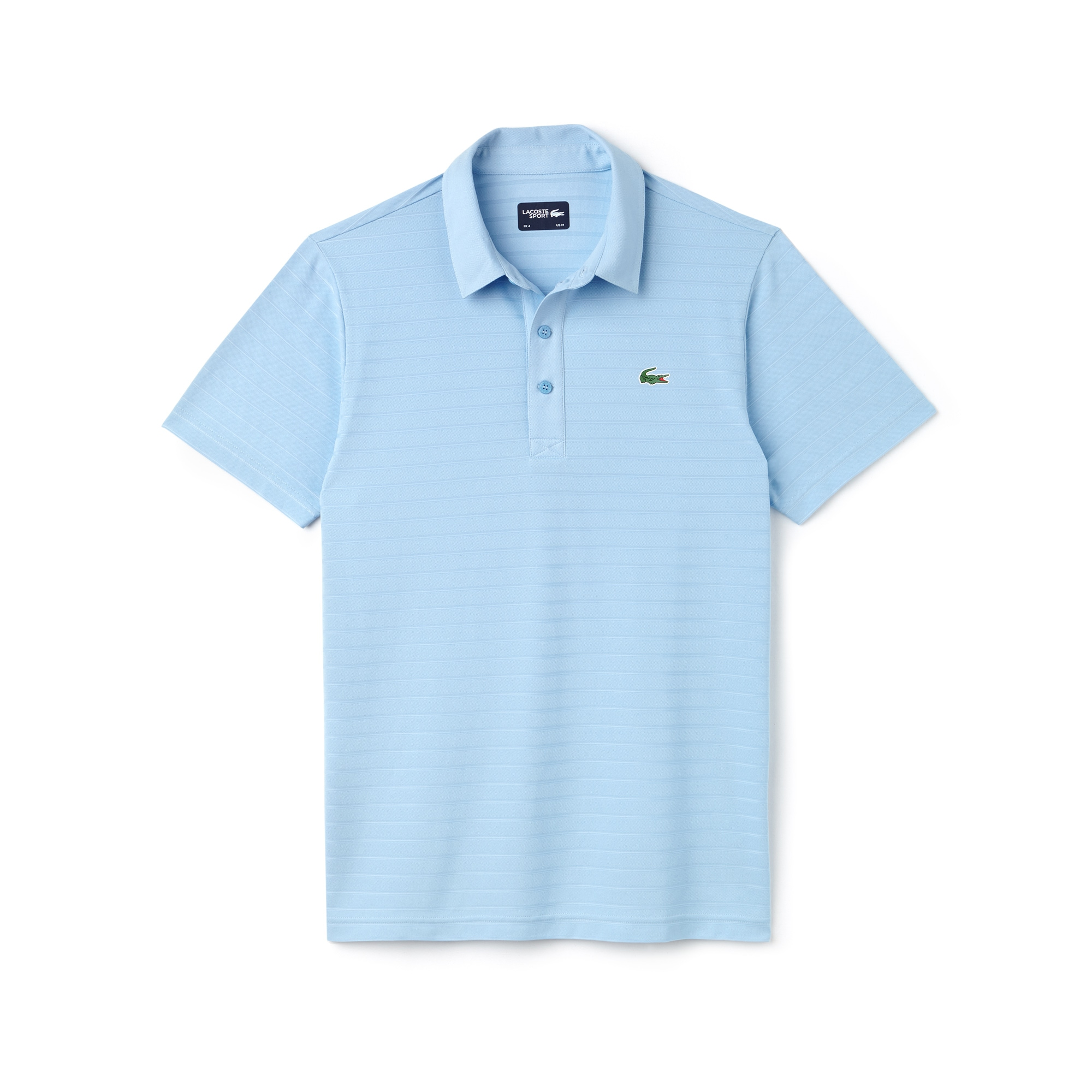 Polo Golf Lacoste SPORT em jersey jacquard técnico às riscas