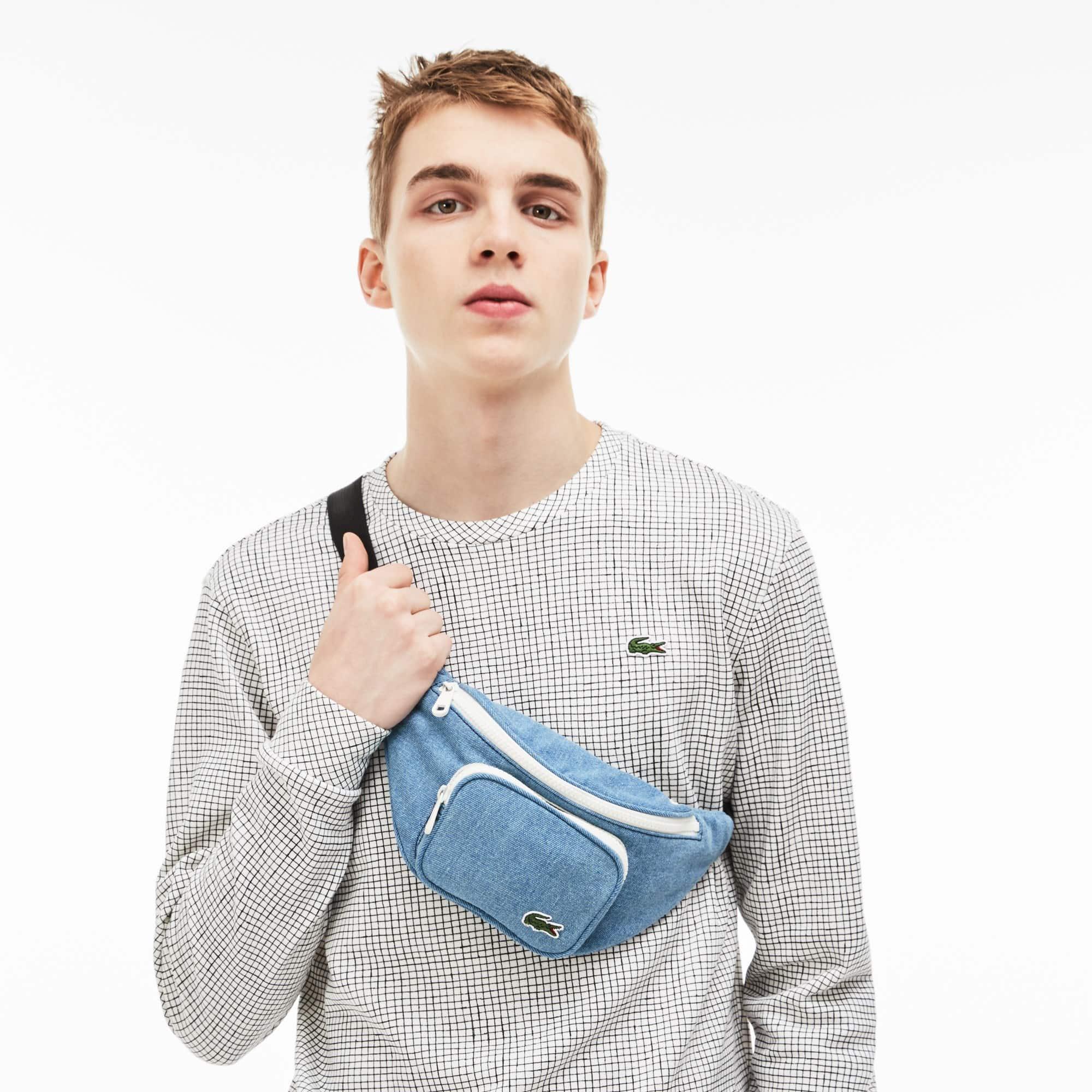 Bolsa de cintura com fecho de correr Street Live em algodão com efeito ganga