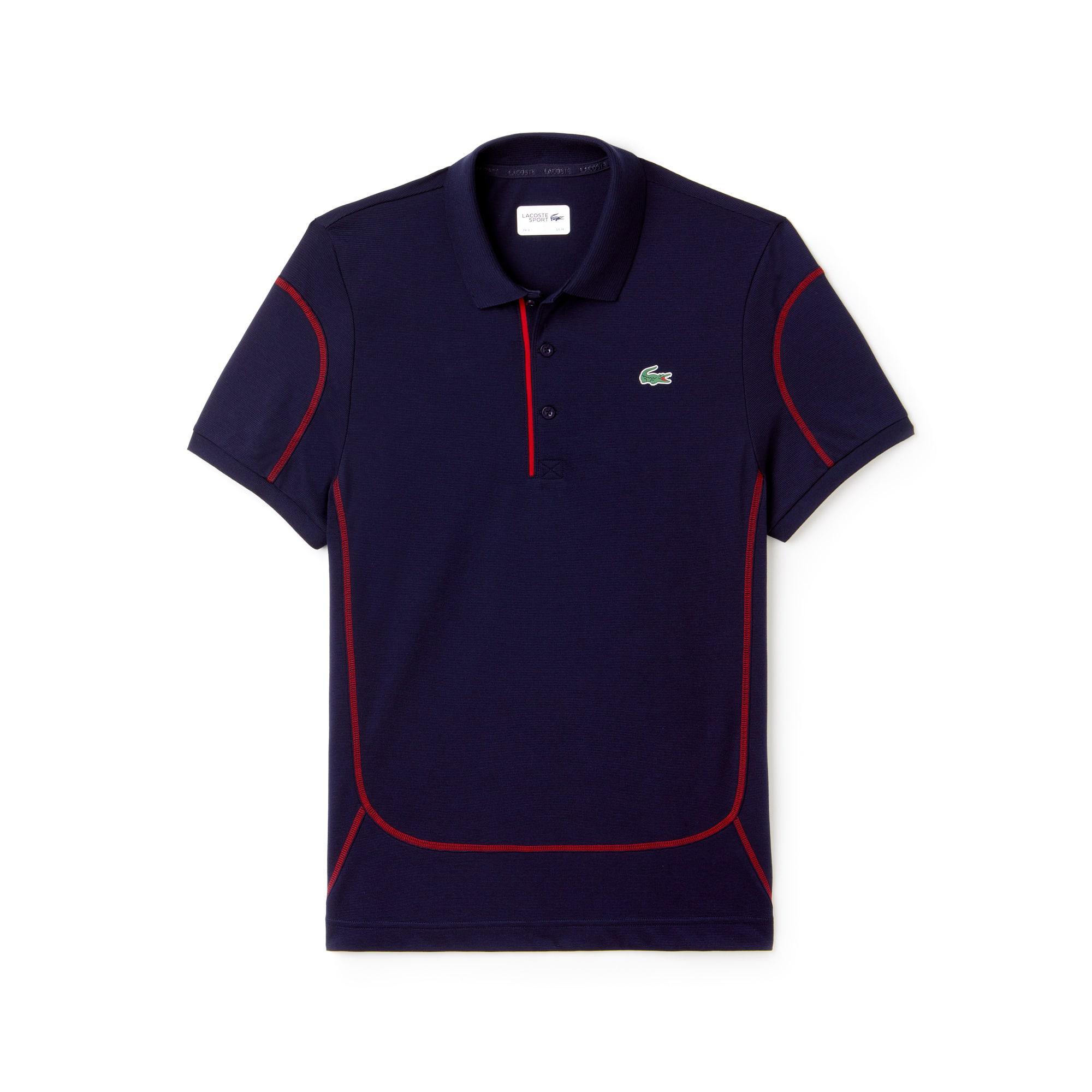 Polo Tennis Lacoste SPORT em algodão superleve com costuras a contrastar