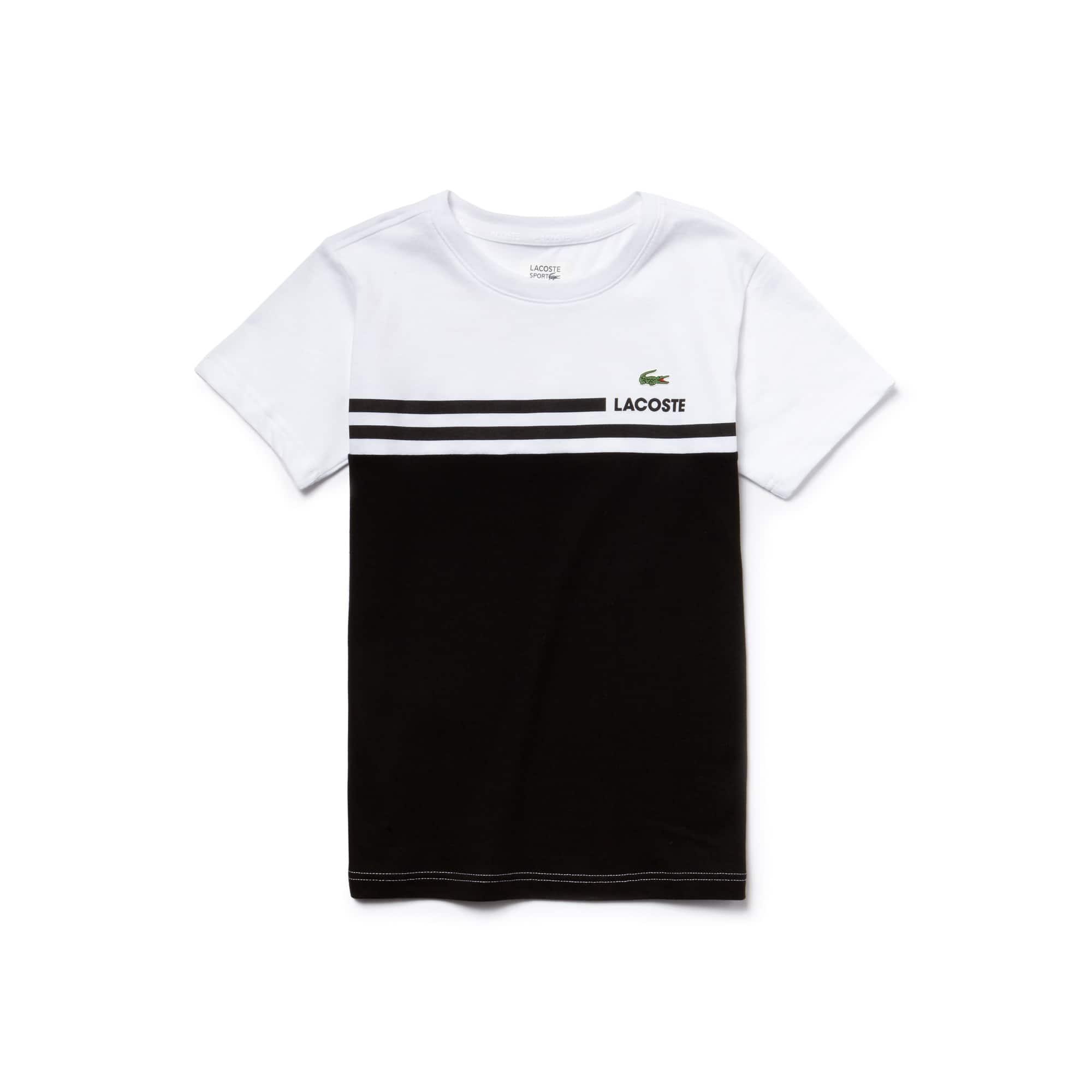 T-shirt Menino Tennis Lacoste SPORT em jersey técnico color block