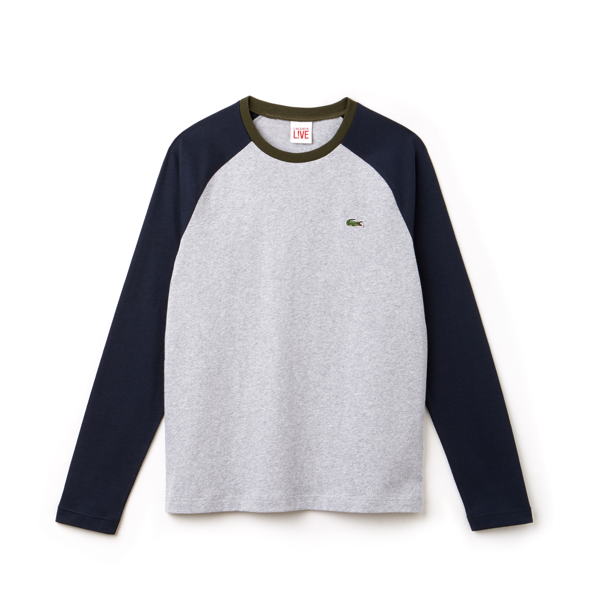 T-shirt de manga comprida Lacoste LIVE em jersey bicolor
