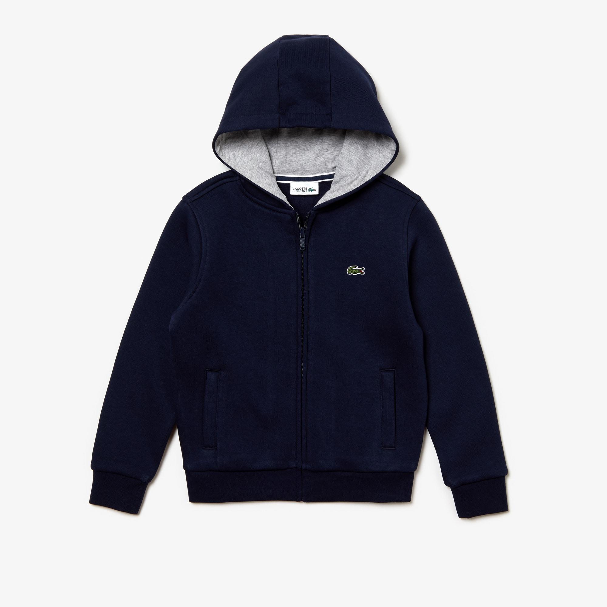 Sweatshirt com fecho de correr Criança Tennis Lacoste SPORT em moletão  unicolor 4ab81fbfff