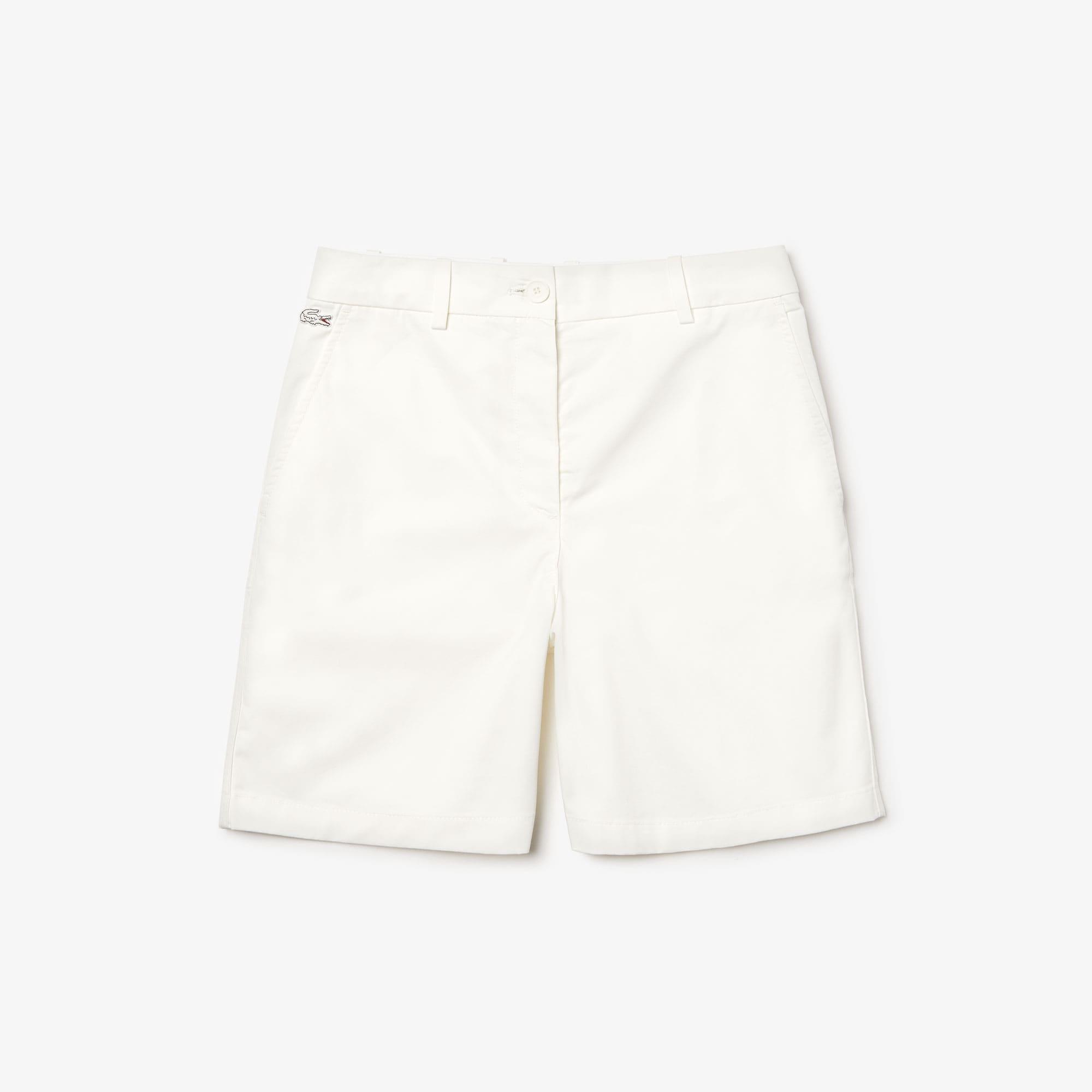 Bermudas corte chino em gabardina stretch unicolor