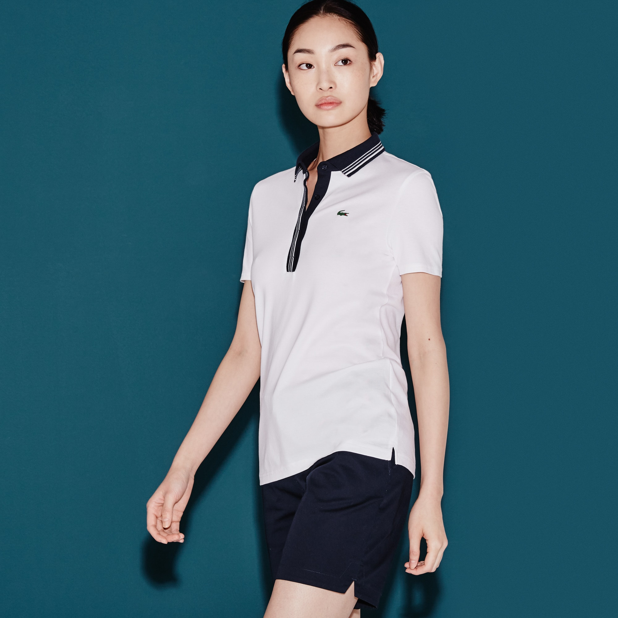 Polo Golf Lacoste SPORT em malha superleve stretch
