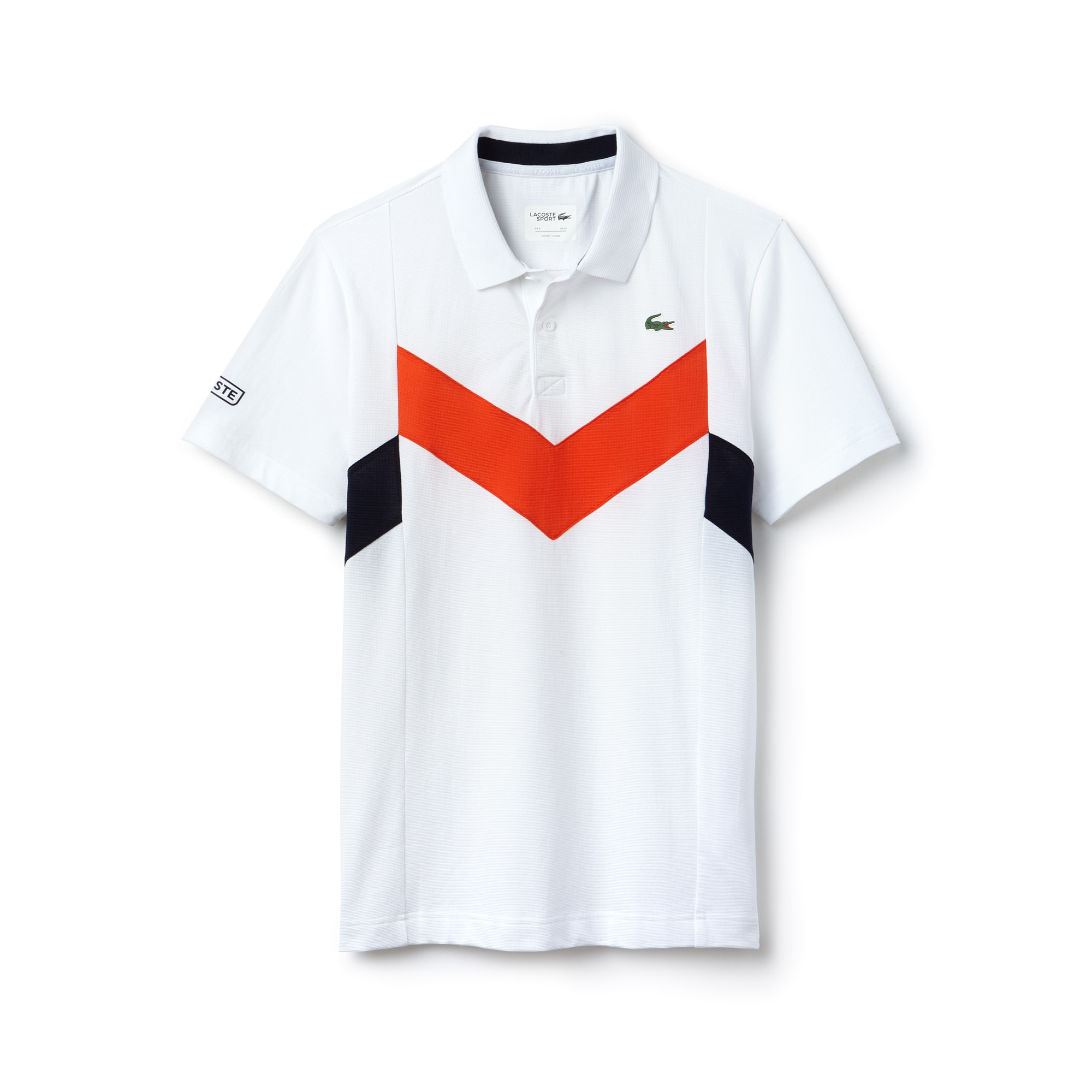 Polo Tennis Lacoste SPORT em malha superleve color block