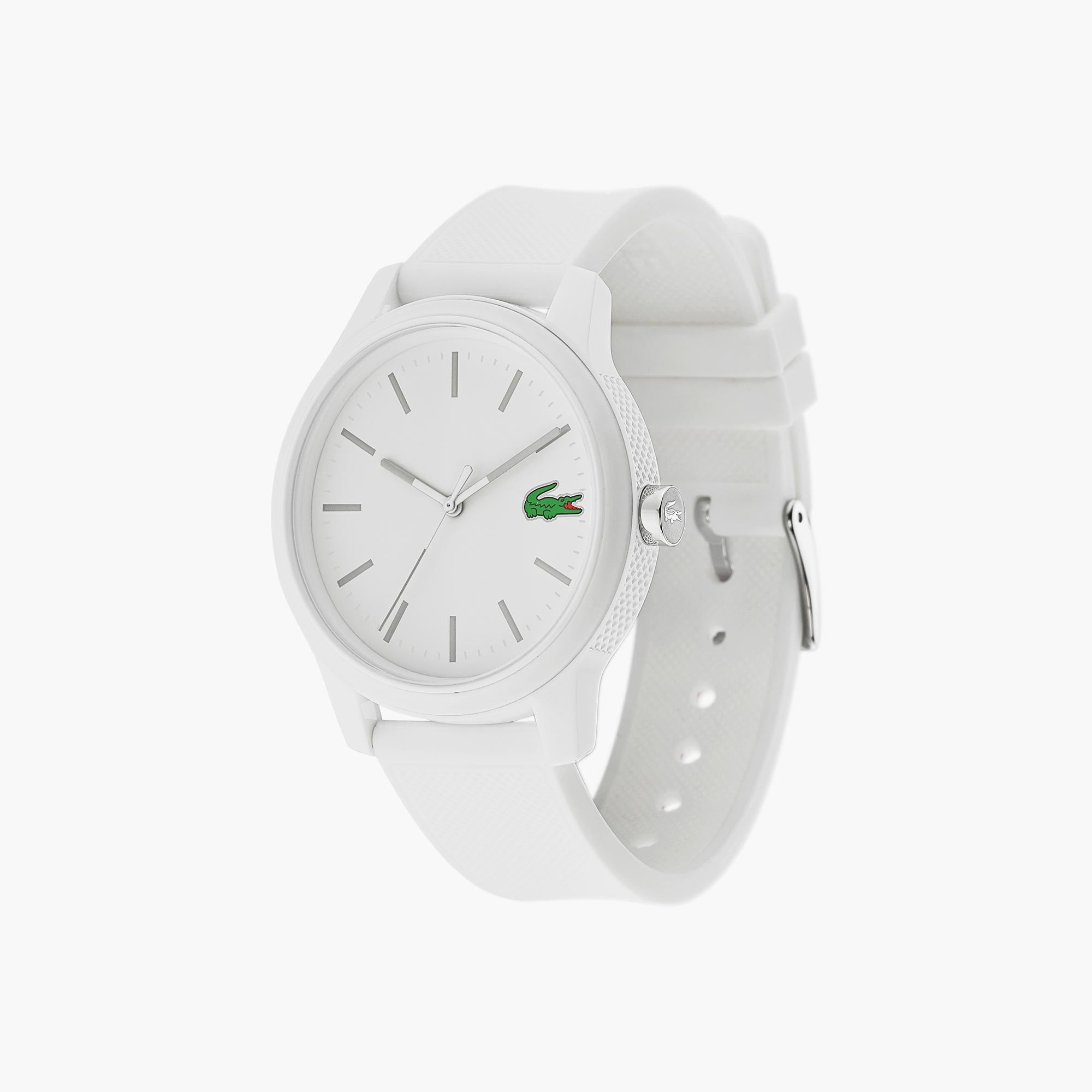 ed804749ae6 Relógio Lacoste 12.12 de homem com bracelete de silicone branca
