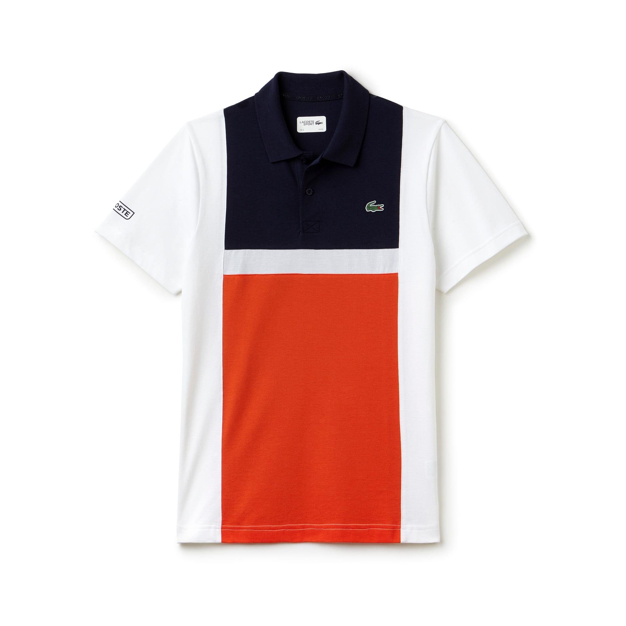 Polo Tennis Lacoste SPORT em algodão superleve color block