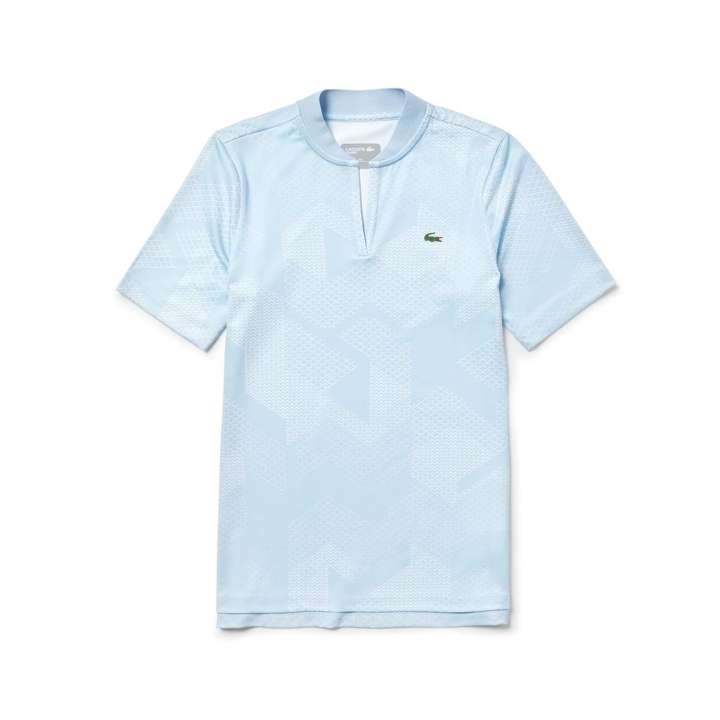 Camisa polo de golfe em algodão técnico elástico com decote banana Lacoste  ... fe4fc04c51