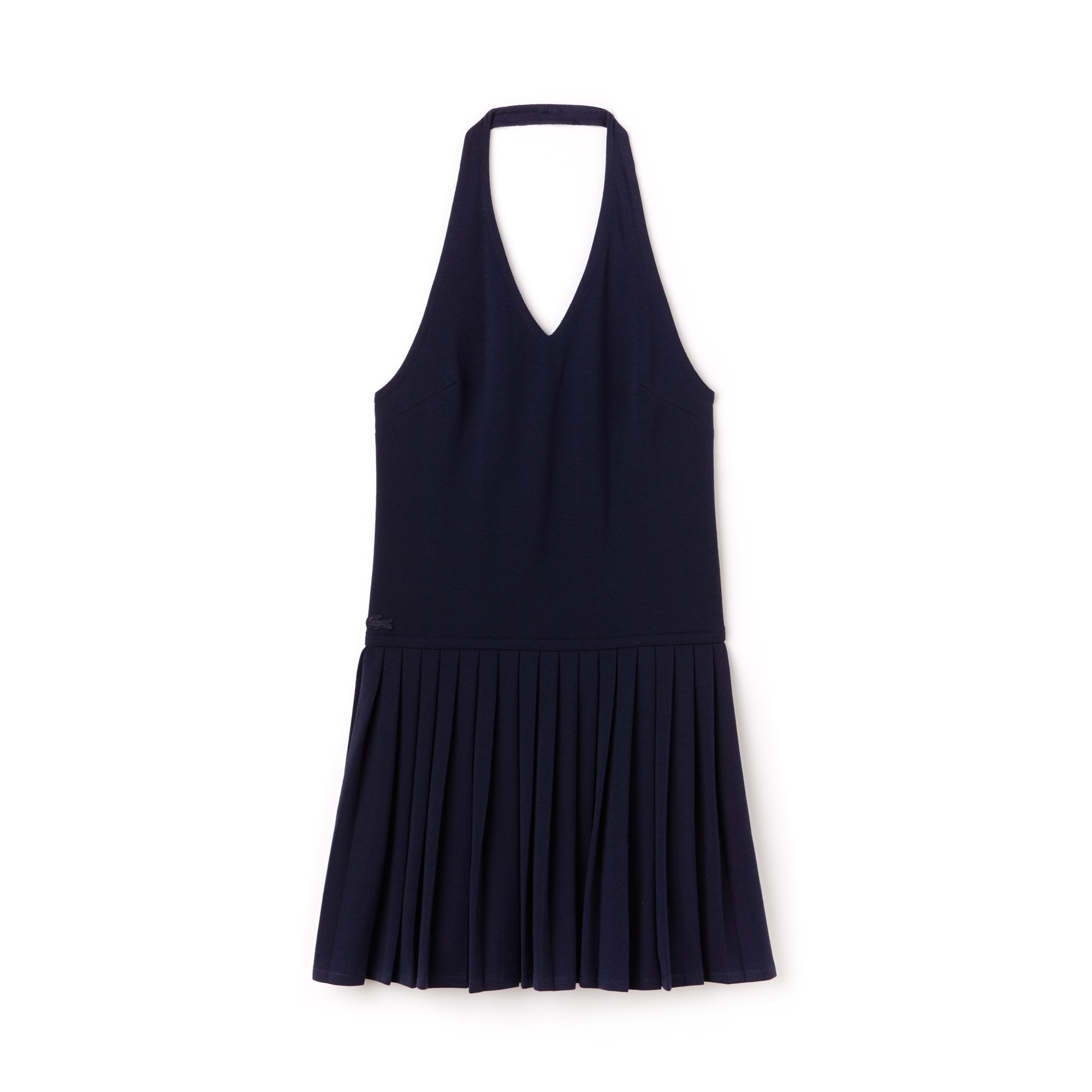Vestido costas nuas Lacoste em petit piqué Edição limitada Aniversário 85 anos Reedição anos 60
