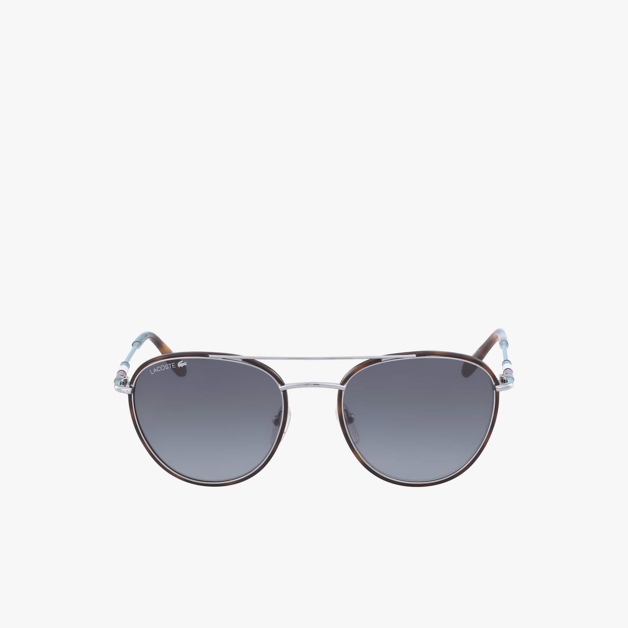 Óculos de sol unissexo do legado Color Block com armação de metal