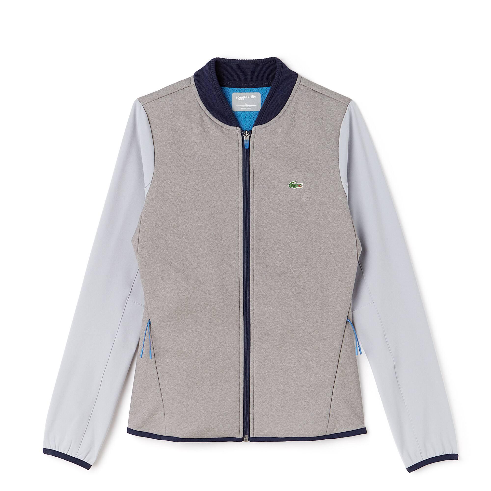 Sweatshirt com fecho de correr Golf Lacoste SPORT em camada intermédia técnica impermeável
