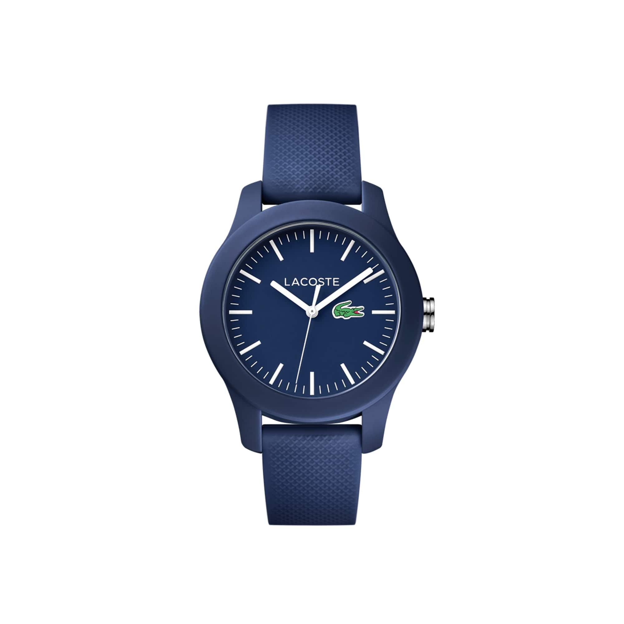 Relógio Lacoste 12.12 de mulher com bracelete de silicone azul