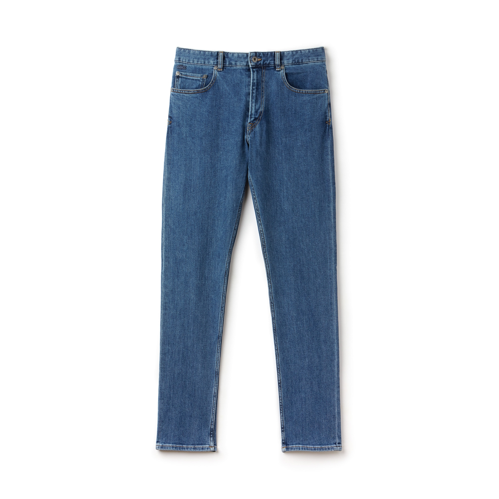 Calças de ganga 5 bolsos slim fit em ganga de algodão stretch