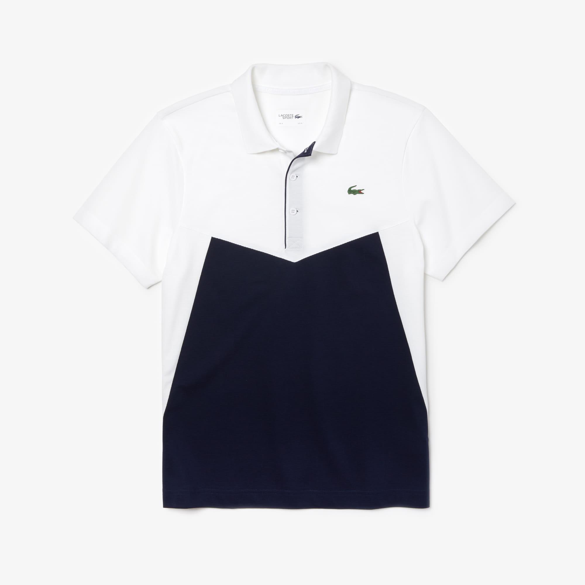 a45251694355f Camisa polo de ténis em algodão ultraleve em color block Lacoste ...