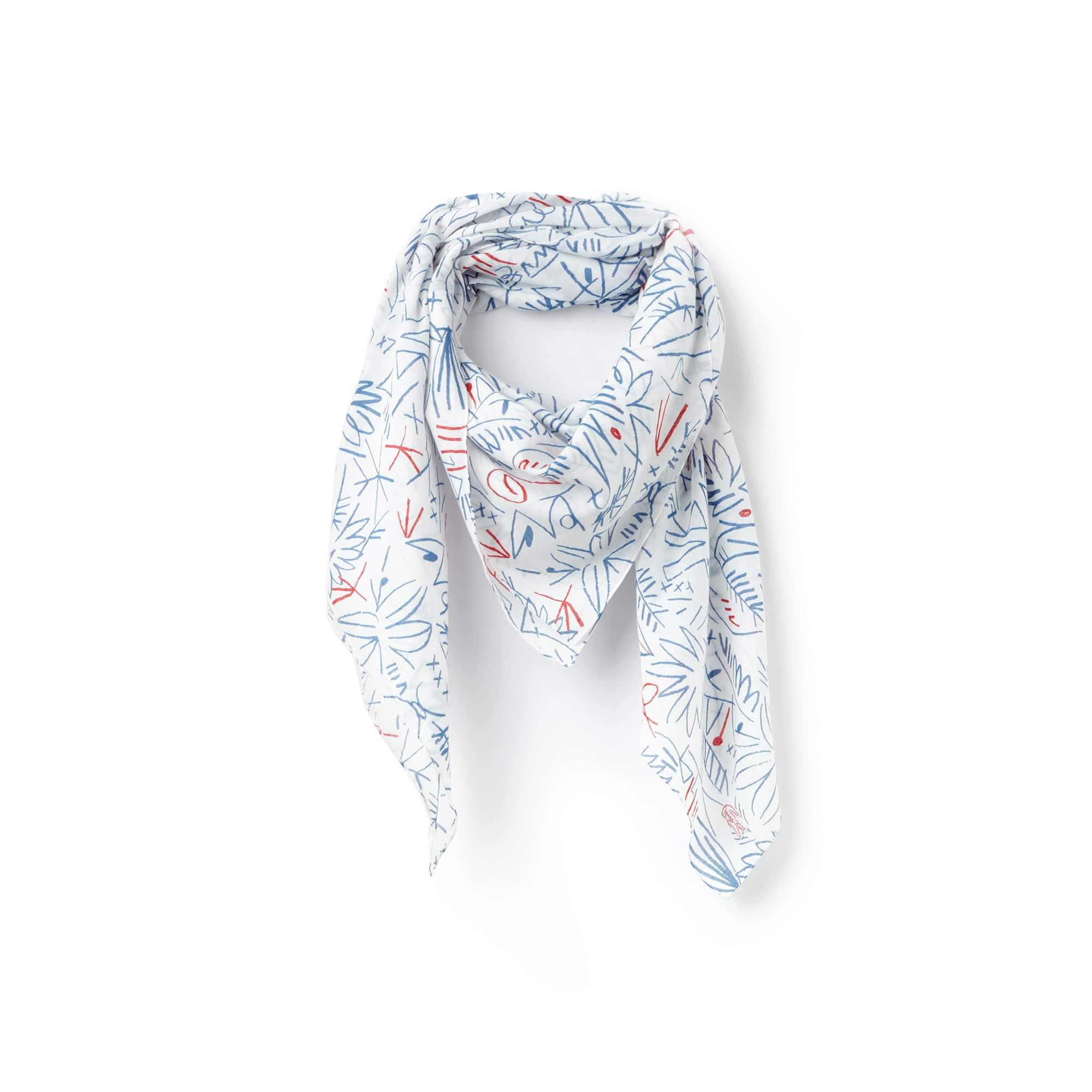 Écharpe em voile de algodão com impressão