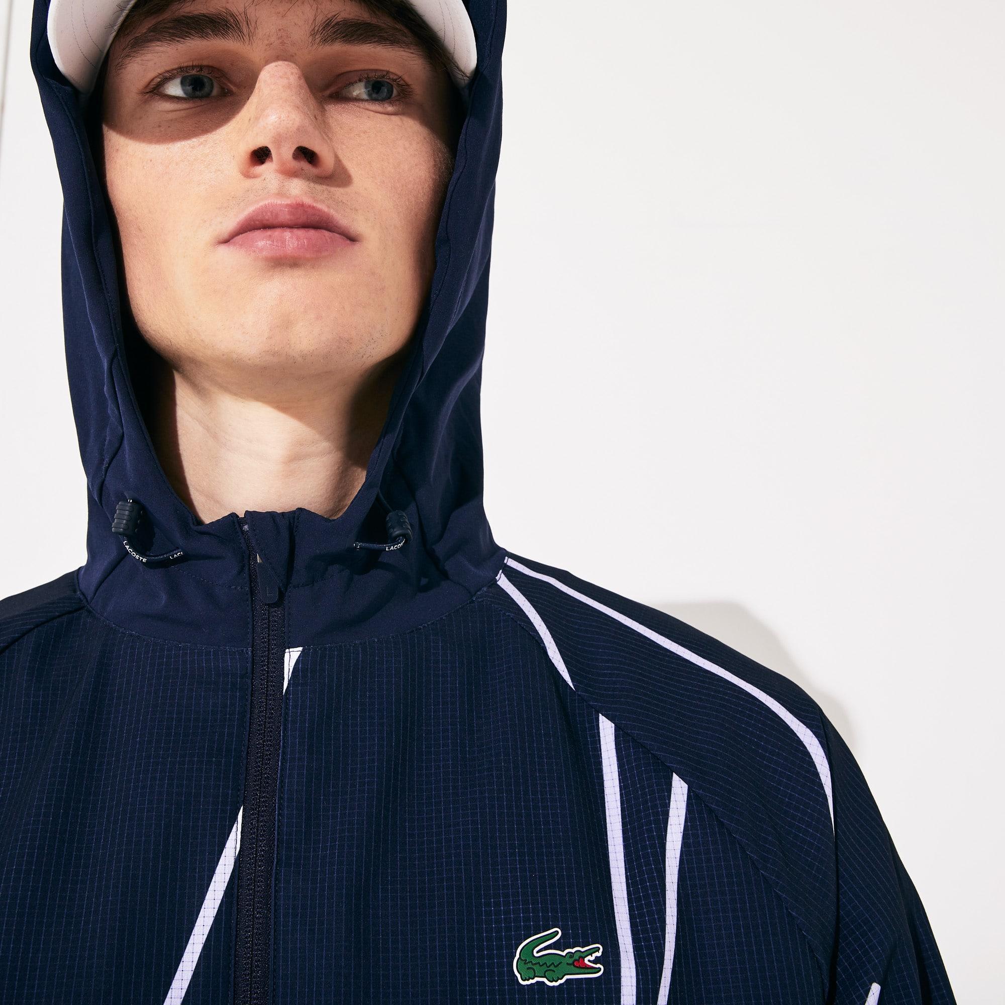 Blusão com zip e capuz do Open da França x Lacoste SPORT para homem