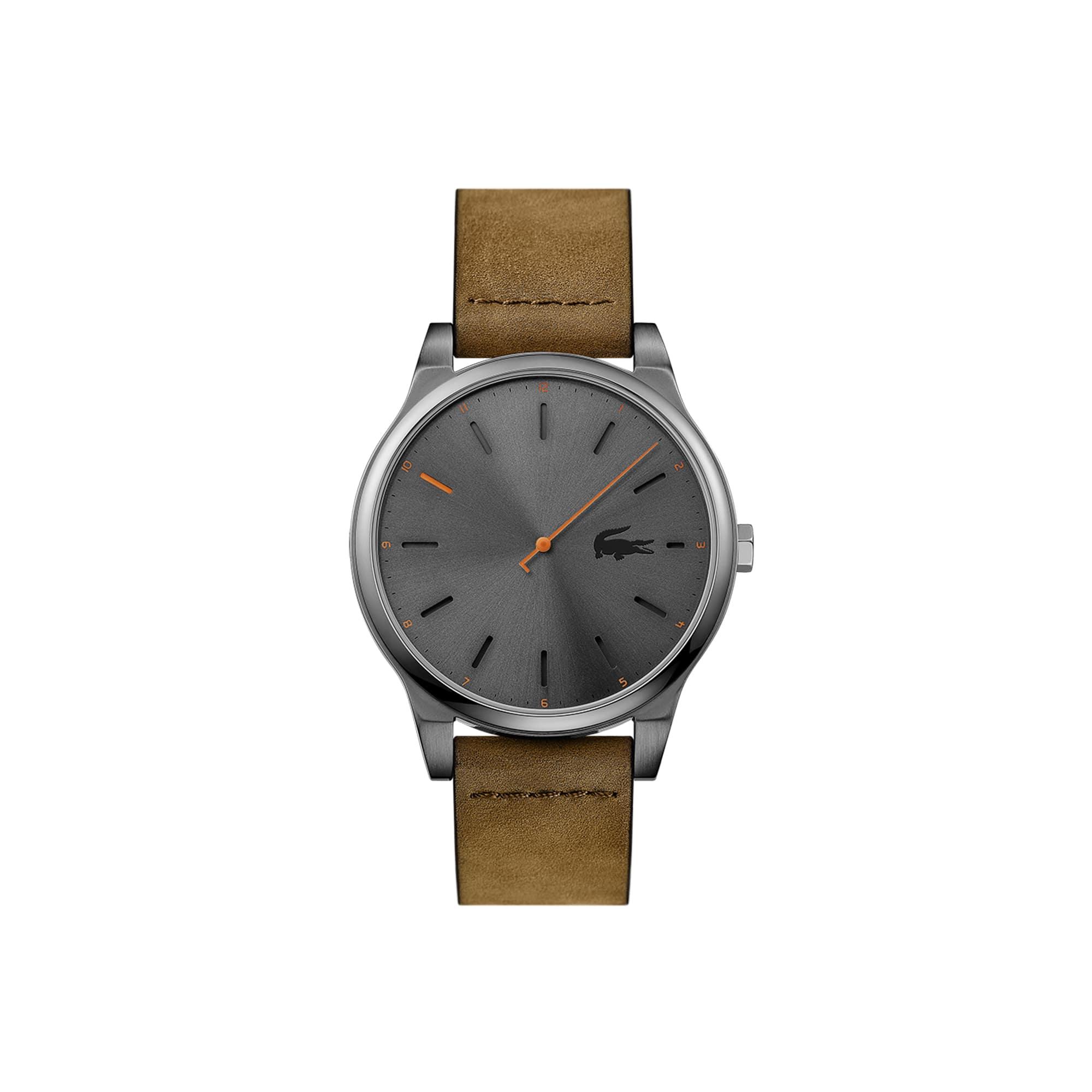 Relógio Kyoto de homem com bracelete de pele castanha