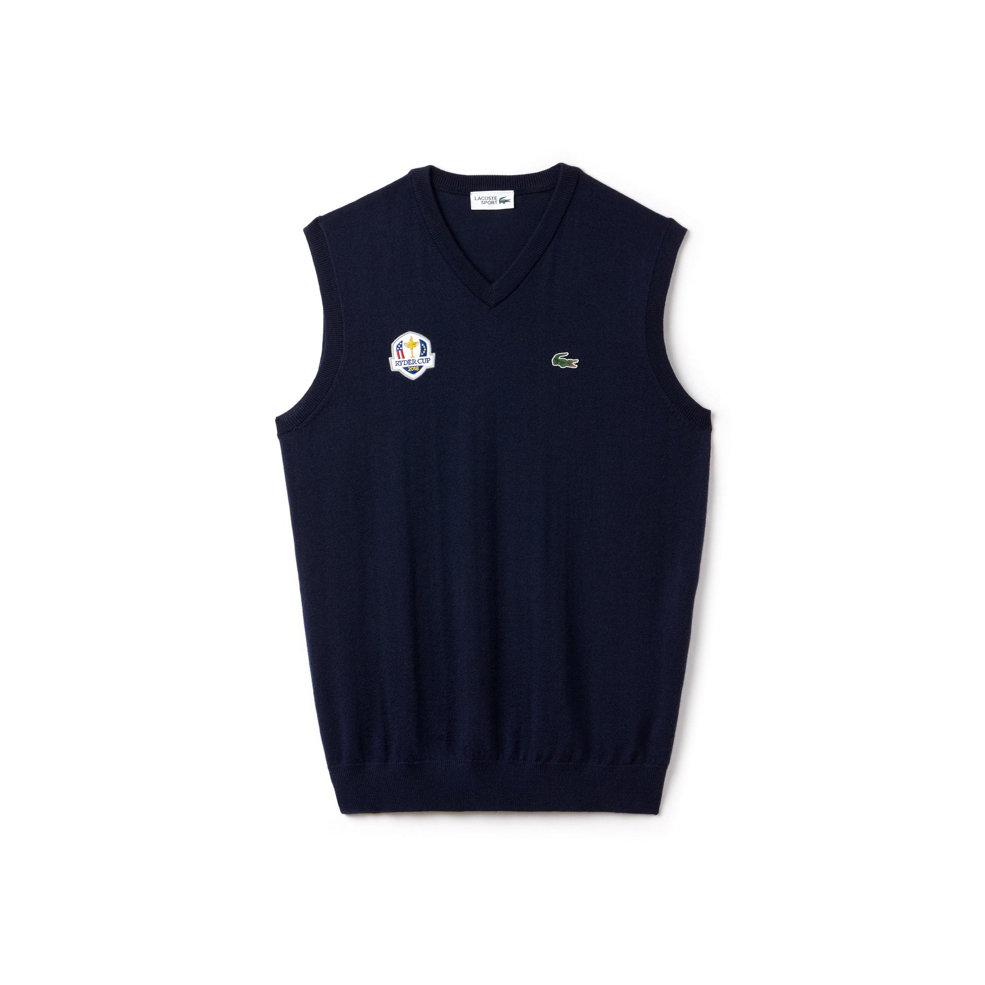 Camisola decote em V Golf Lacoste SPORT sem mangas em jersey Edição Ryder Cup