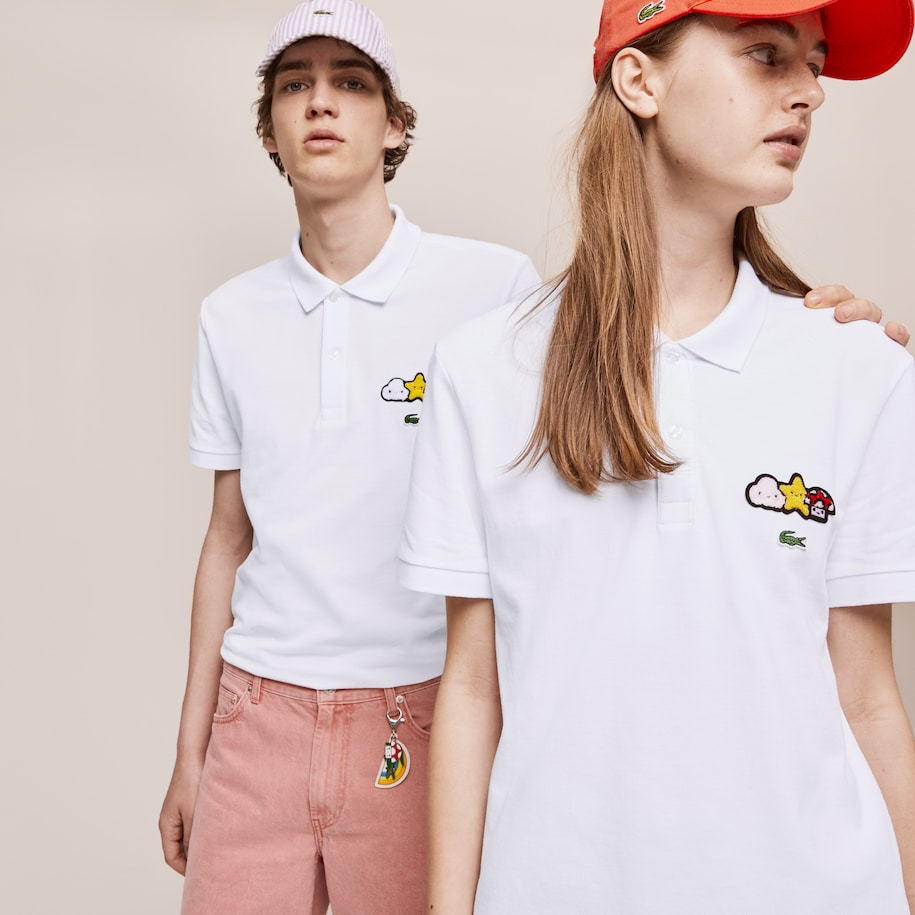 Polo Classic Fit Design Lacoste x FriendsWithYou unissexo
