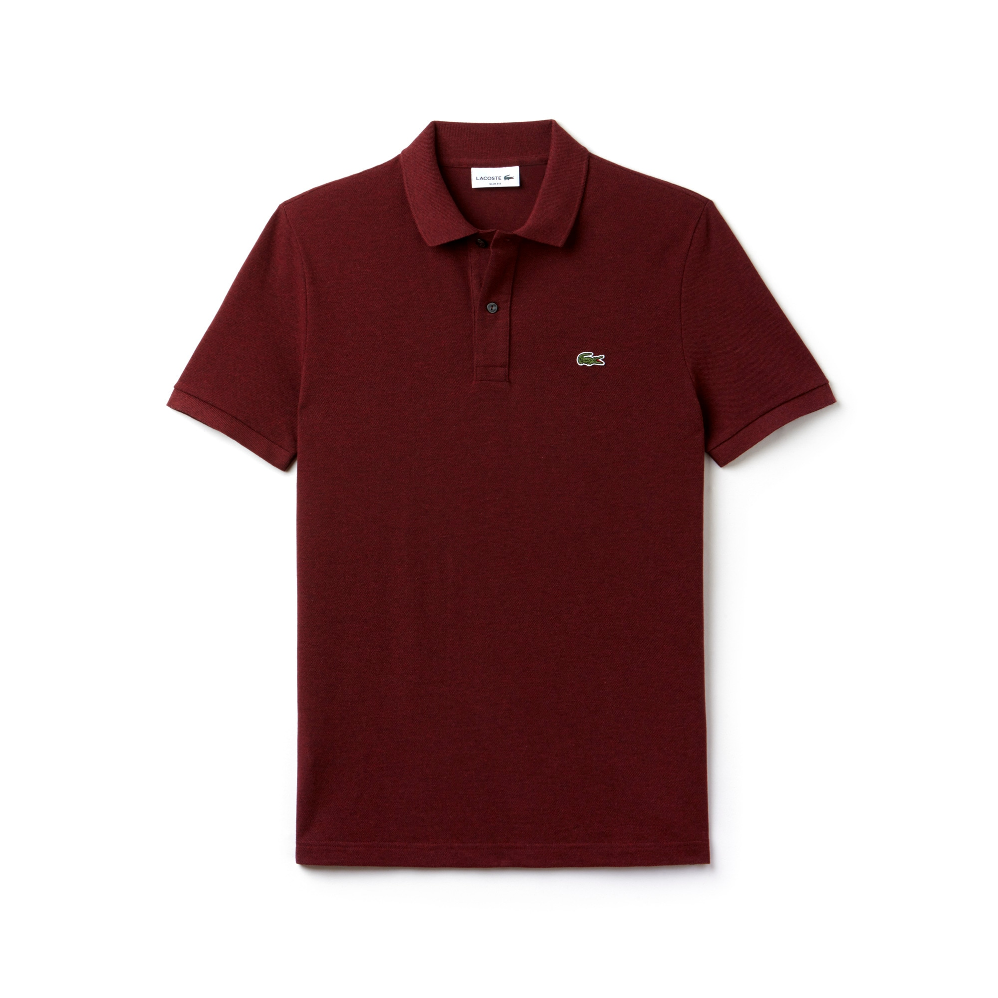 Polo Lacoste slim fit em petit piqué unicolor