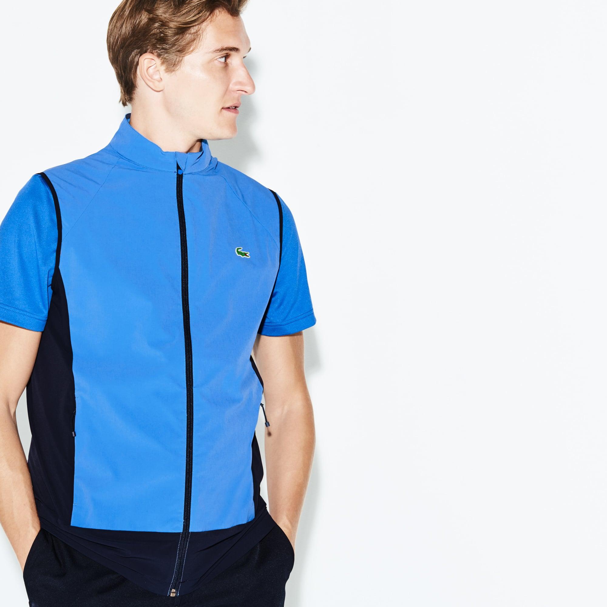 Blusão sem mangas Golf Lacoste SPORT em tafetá técnico color block