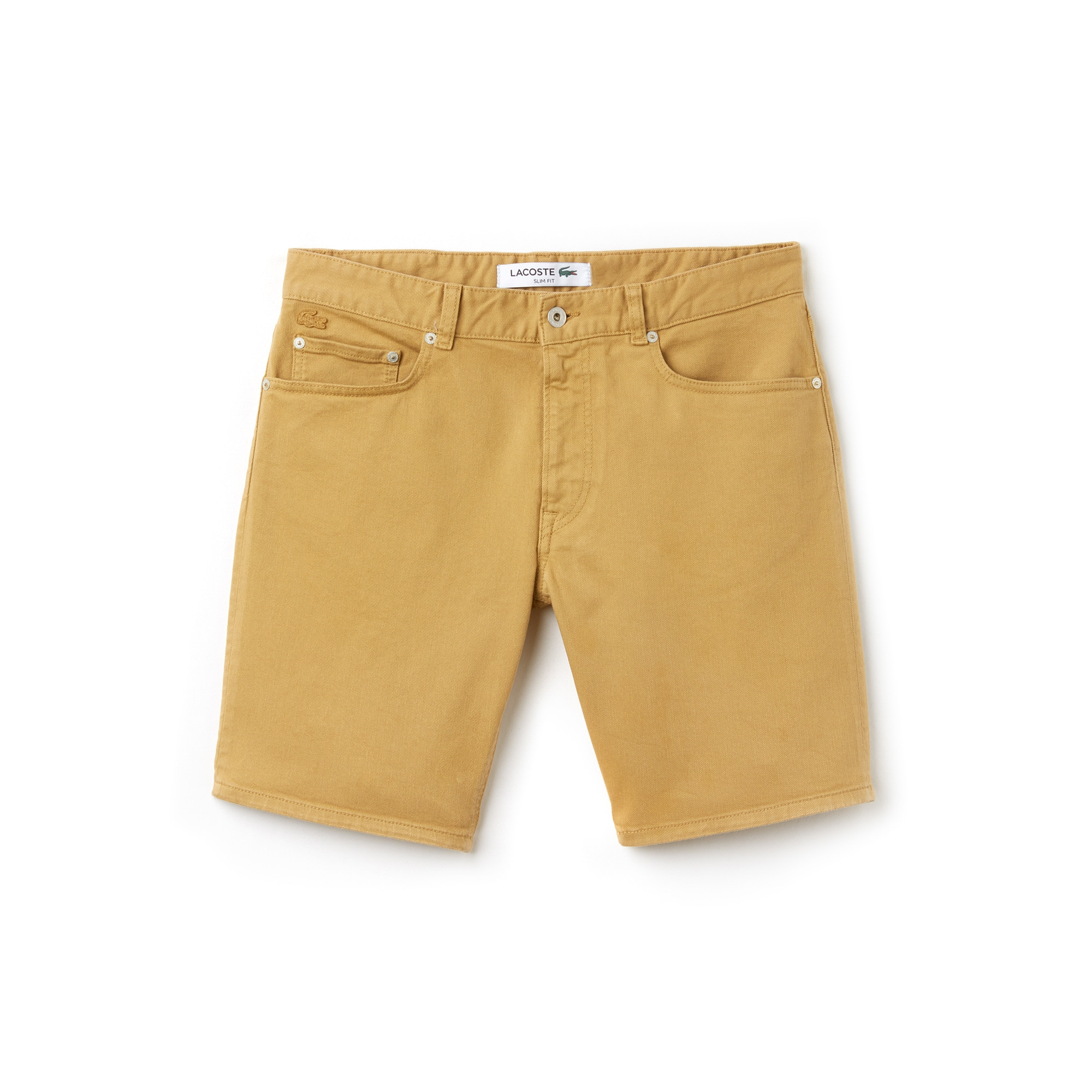 Bermudas 5 bolsos slim fit em twill stretch unicolor