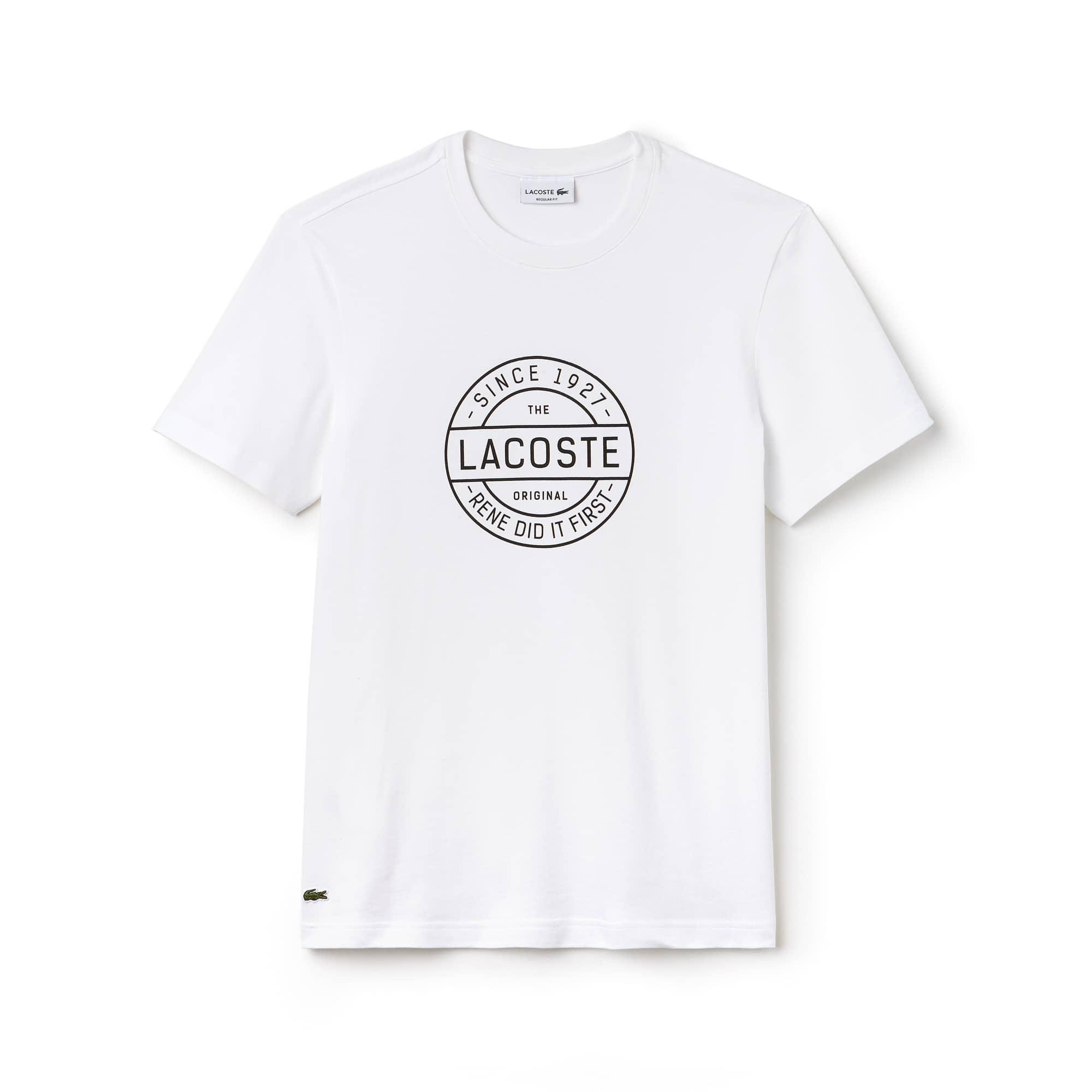 T-shirt com decote redondo Made in France em jersey de algodão com marcação