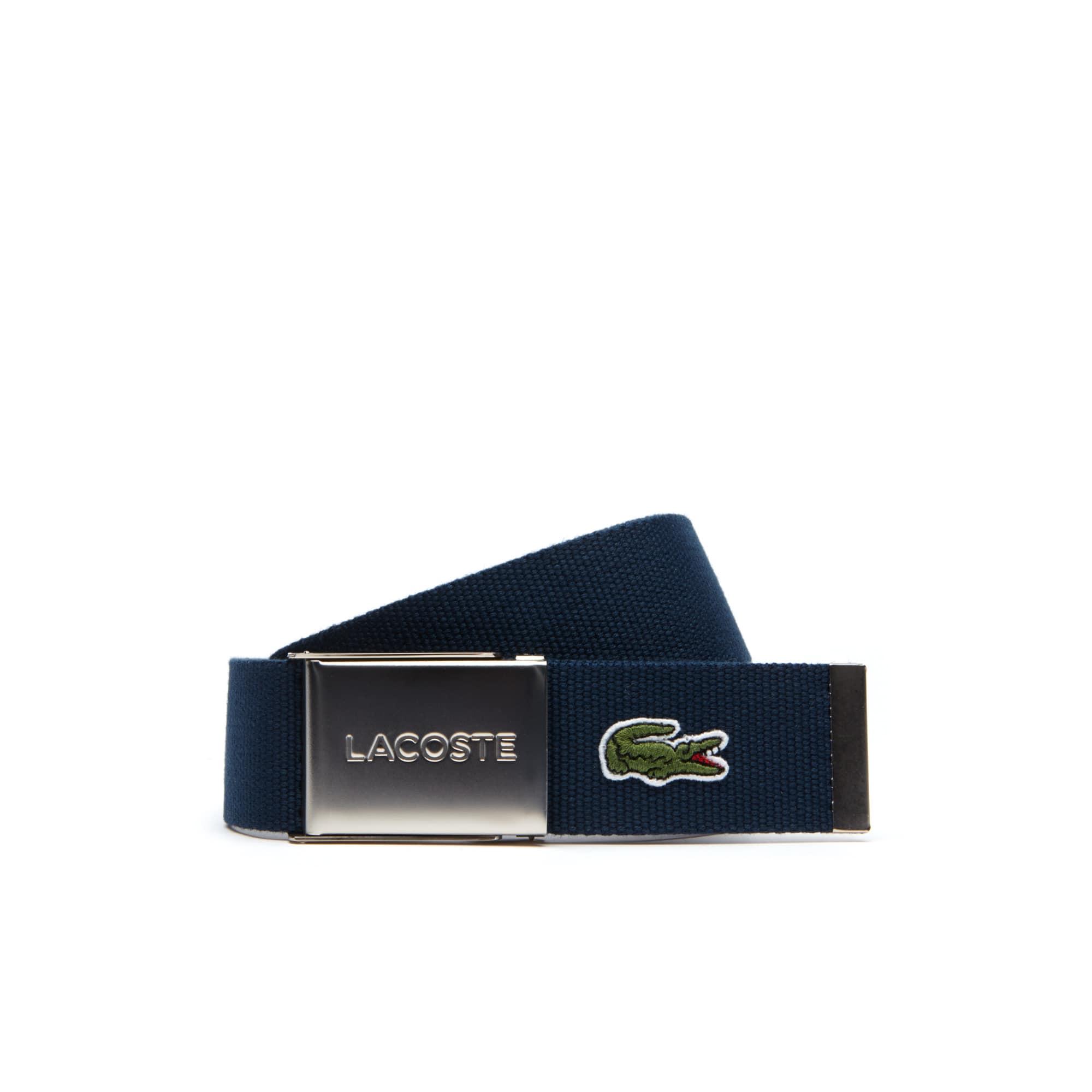 Cinto com fecho com gravação Lacoste Edição Made in France