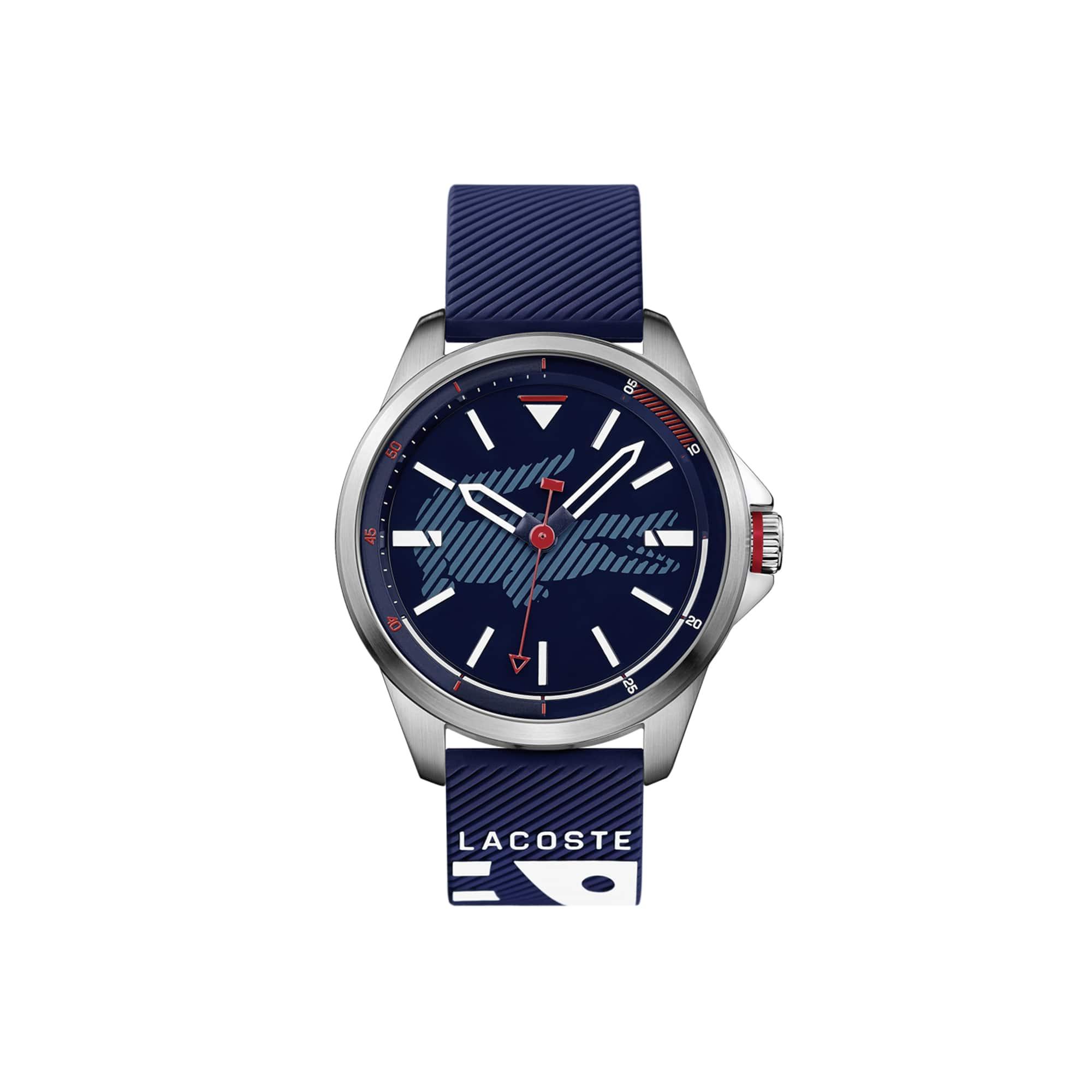 Relógio Capbreton com bracelete em silicone azul