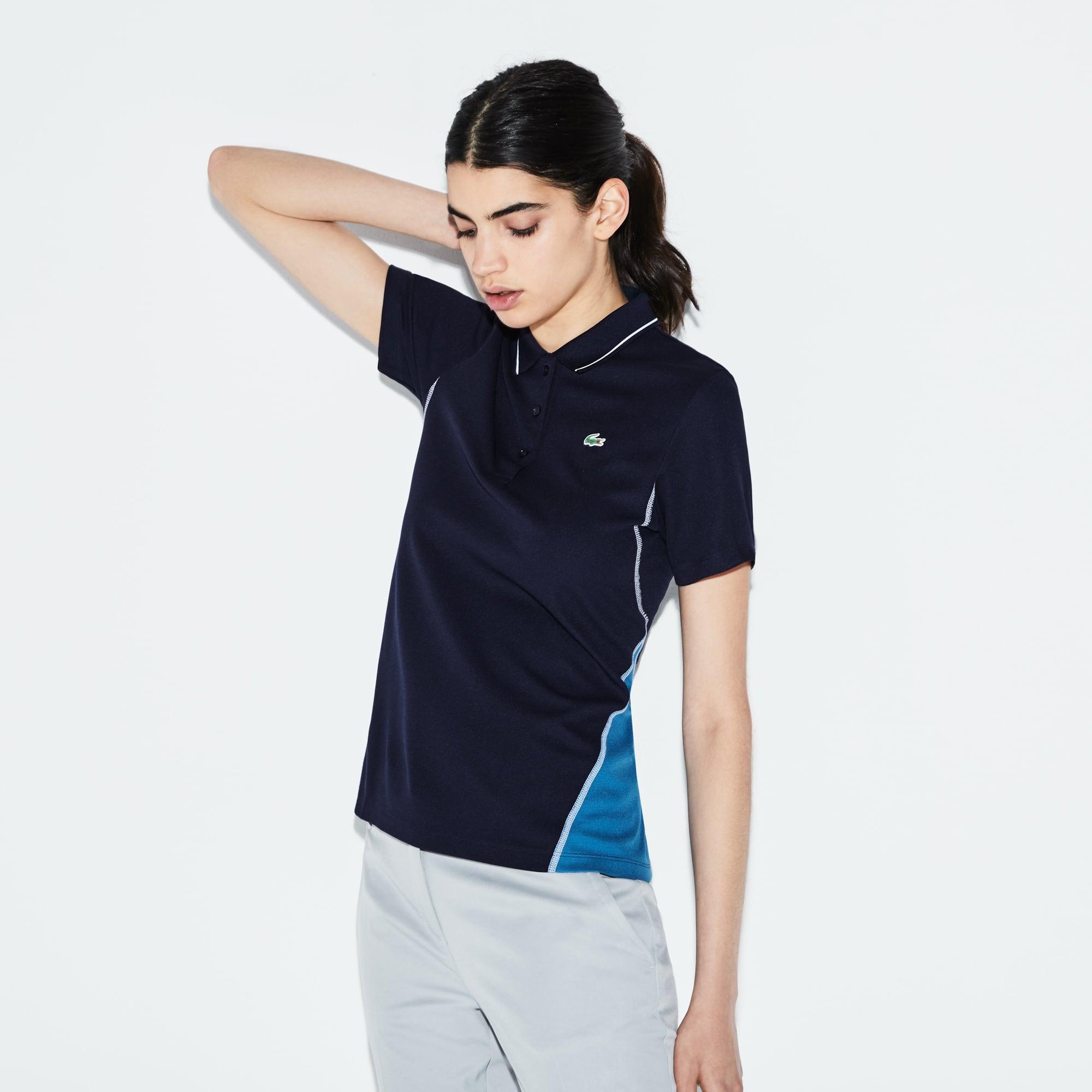 Polo Golf Lacoste SPORT em malha de algodão técnica bicolor