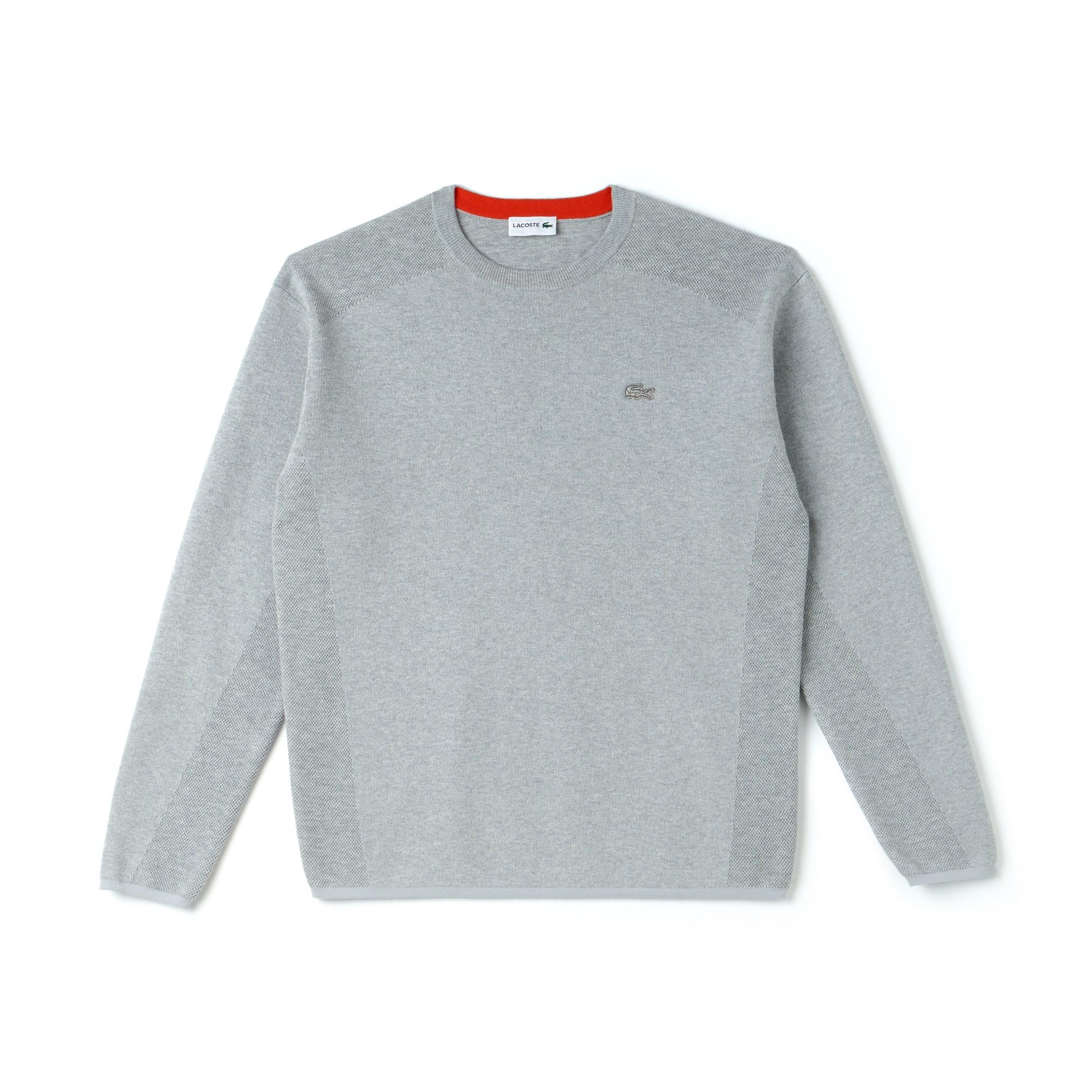 Camisola com decote redondo Lacoste Motion em algodão coolmax