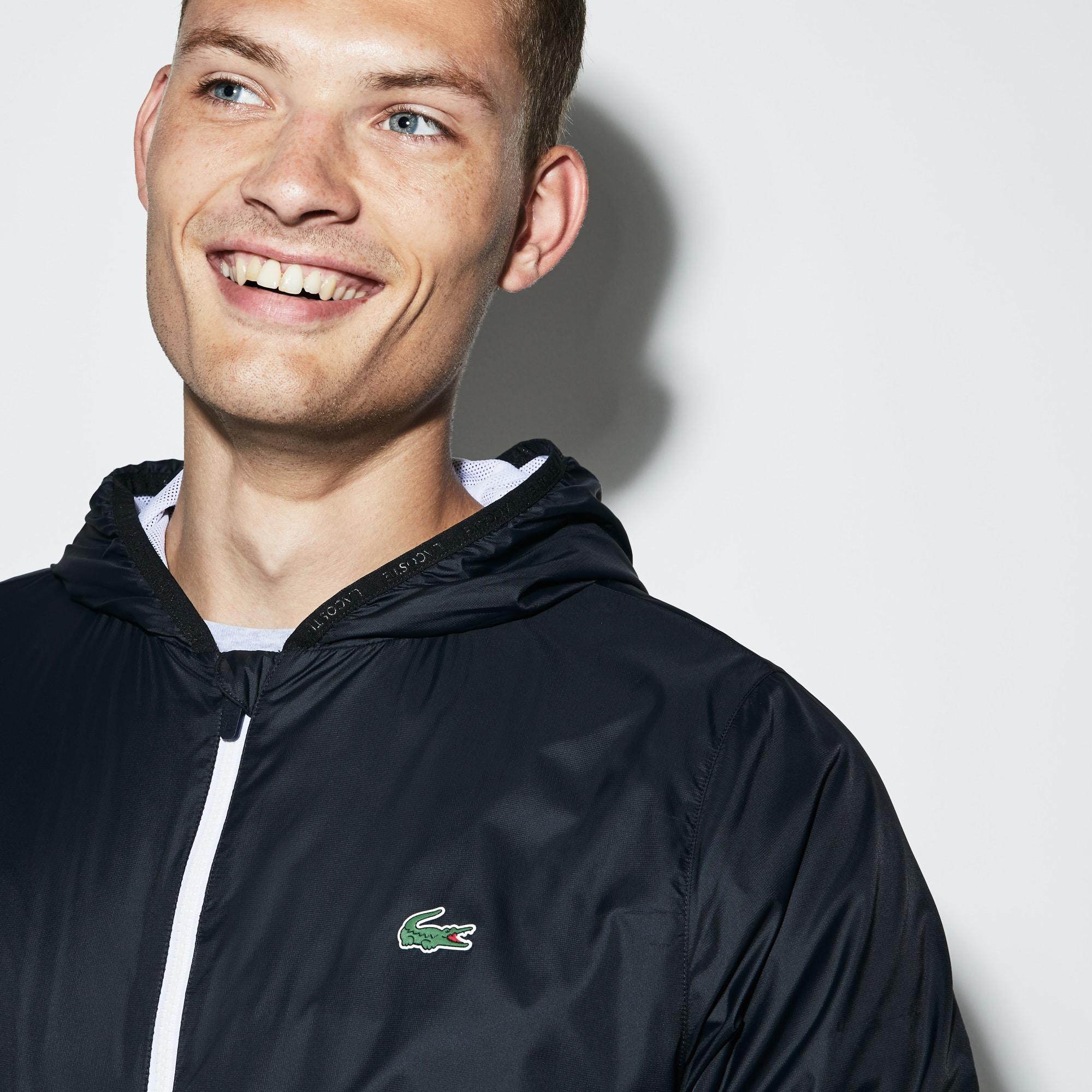 Blusão técnico com capuz Tennis Lacoste SPORT unicolor