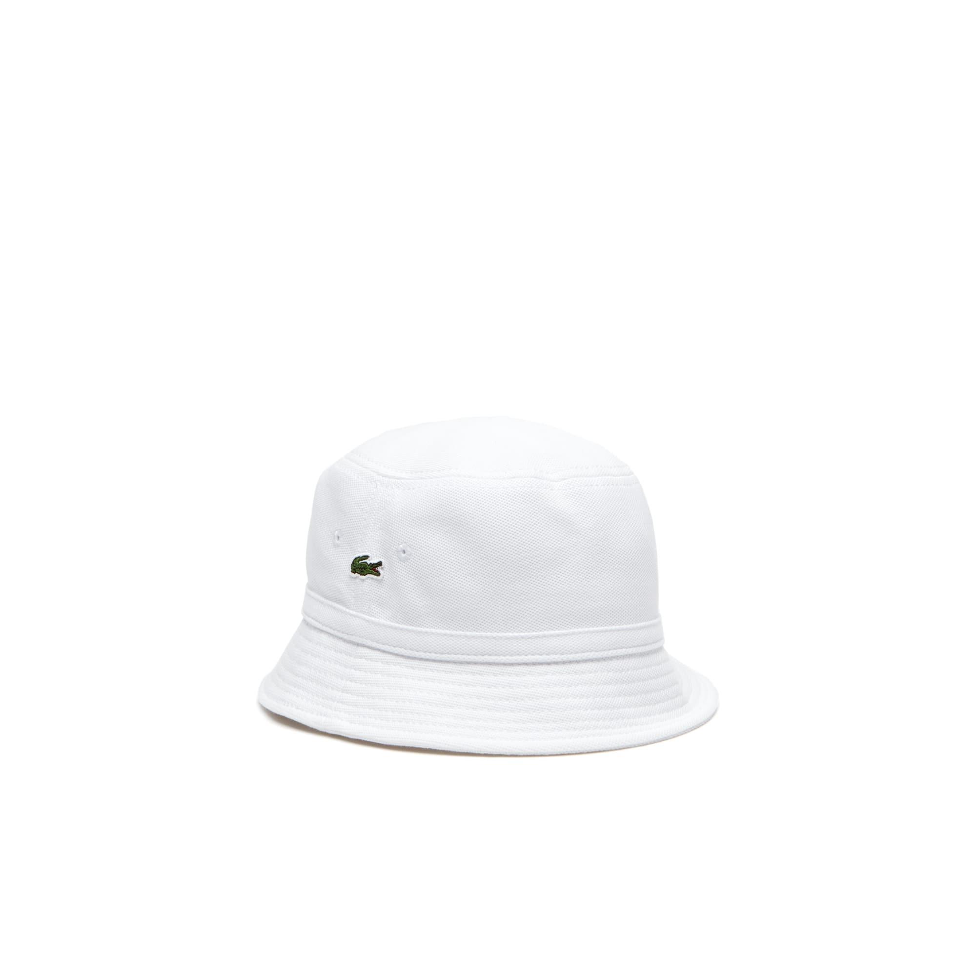 Chapéu unicolor em piqué de algodão