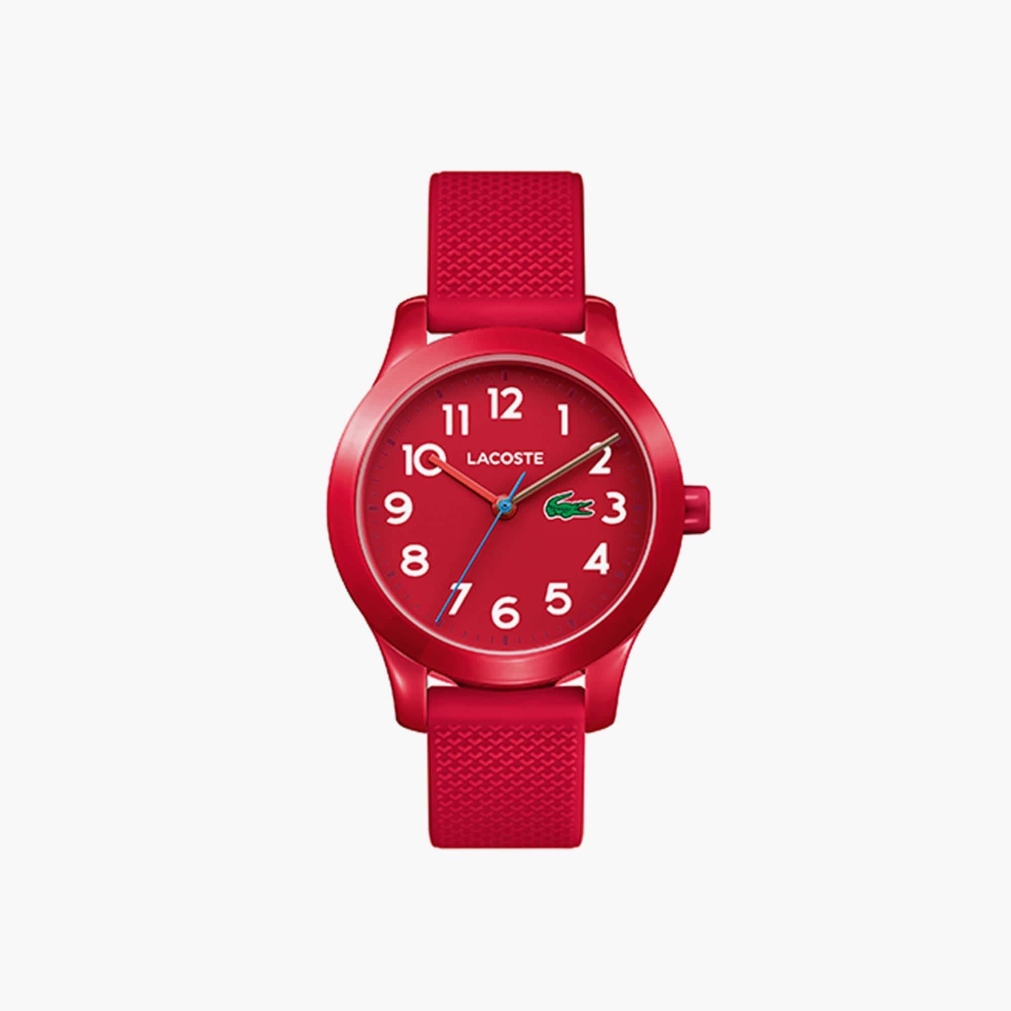 Relógio Lacoste 12.12 de criança com bracelete de silicone vermelha