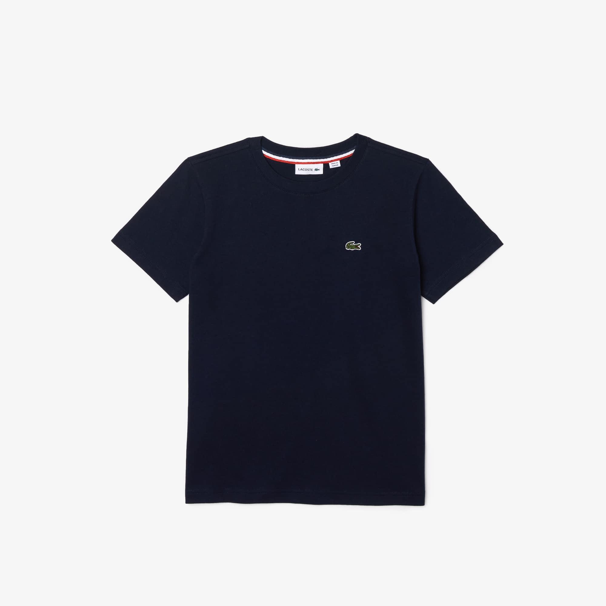 T-shirt decote redondo Menino em jersey de algodão