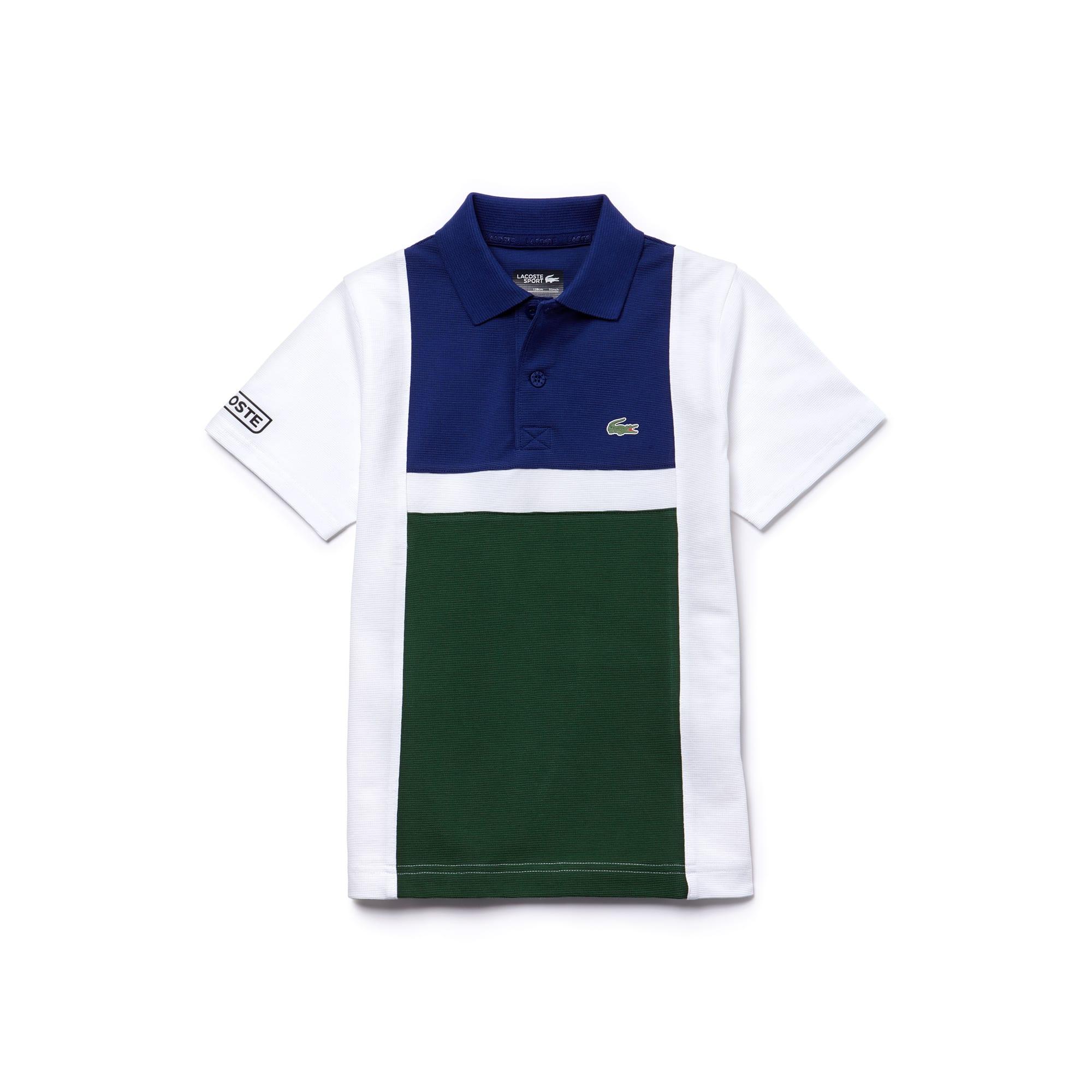Polo Menino Tennis Lacoste SPORT em algodão superleve color block