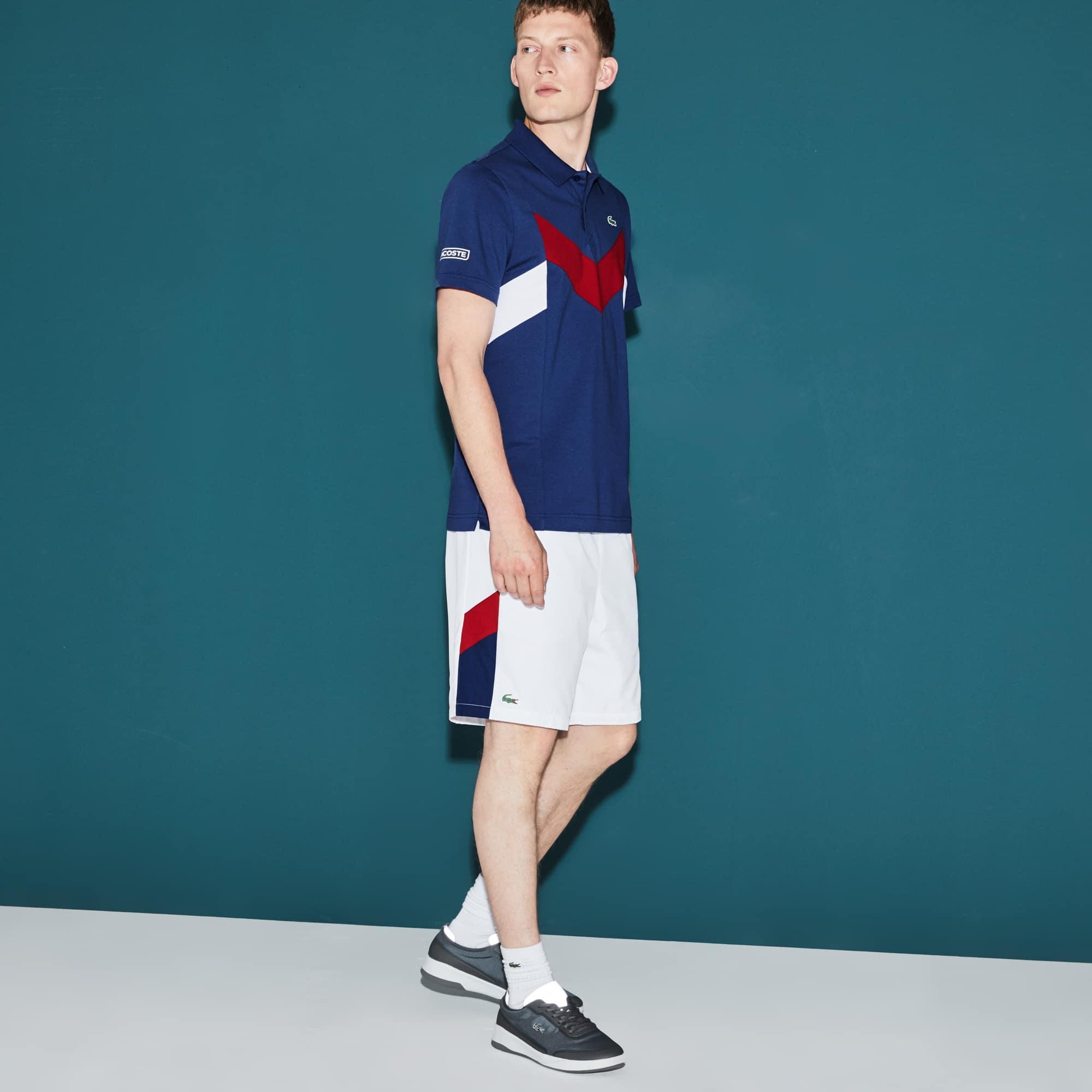 Calções Tennis Lacoste SPORT com faixas color block