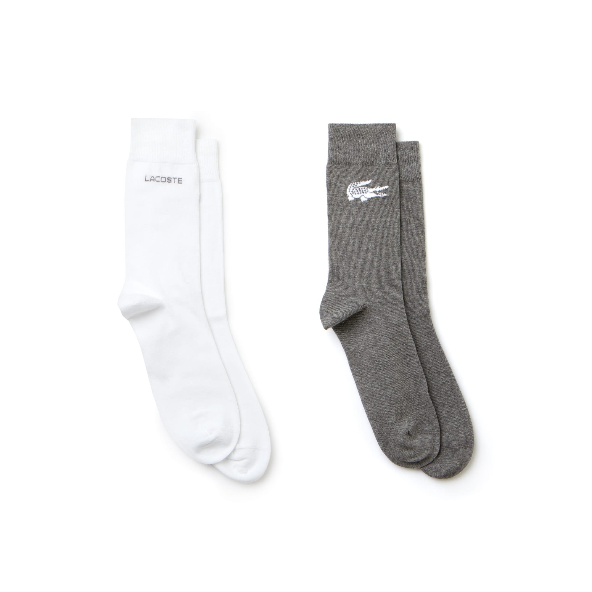 Lote de 2 pares de meias a condizer em jersey com impressão