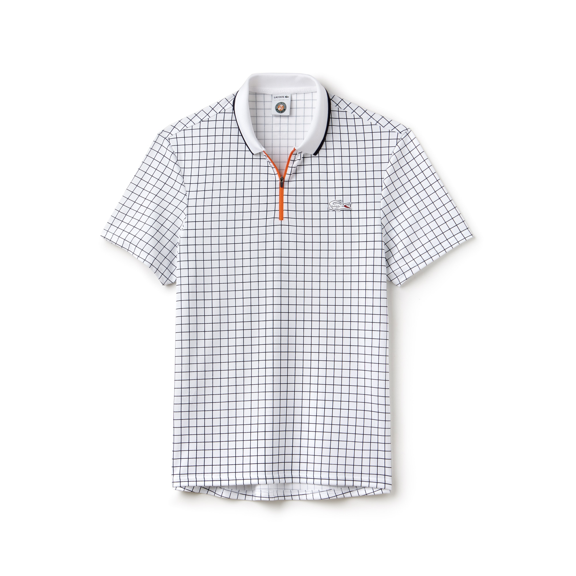Polo Lacoste SPORT em piqué técnico com impressão Edição Roland Garros