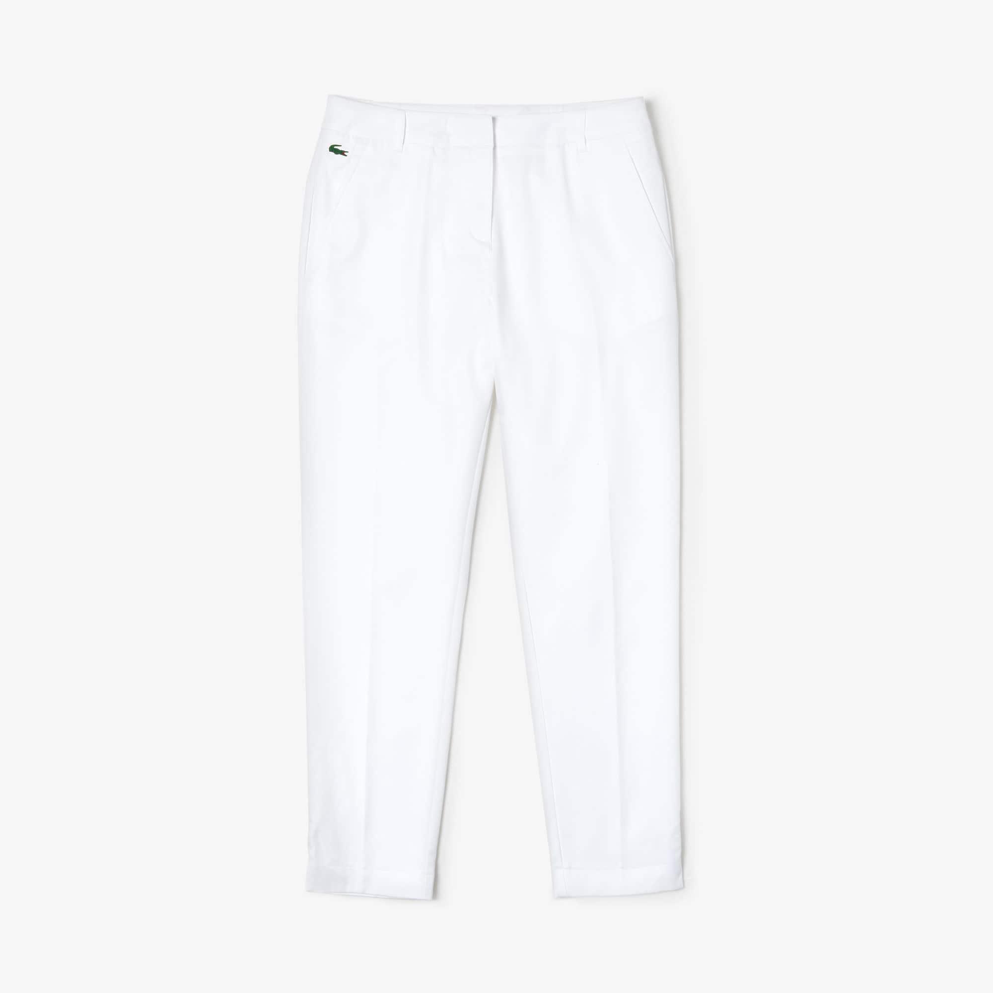 Calças de gabardina técnica plissadas da coleção Lacoste SPORT Golf para mulher