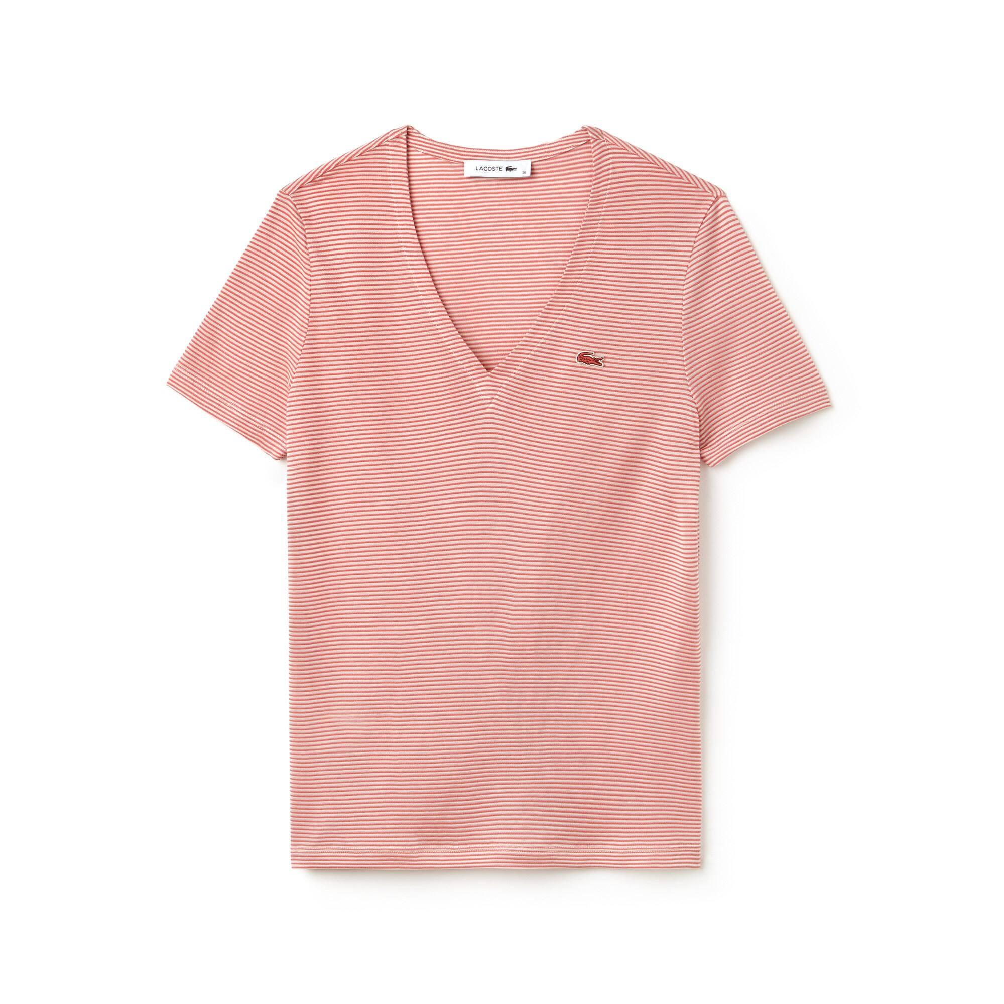 T-shirt decote em V em jersey de algodão Otomano milleraies