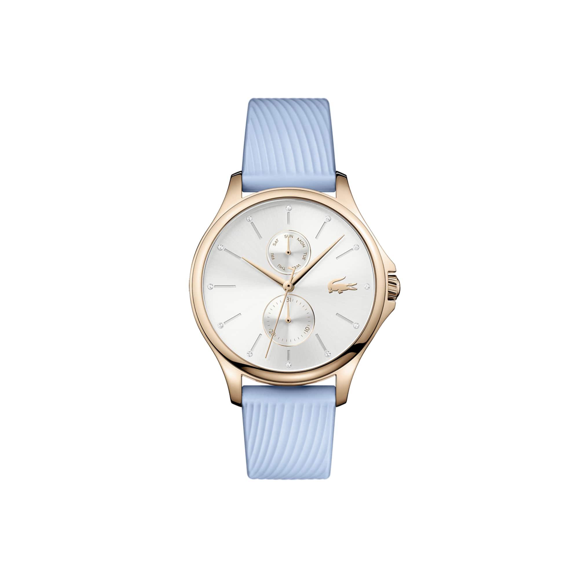 Relógio multifunções Kea de mulher com bracelete de silicone azul