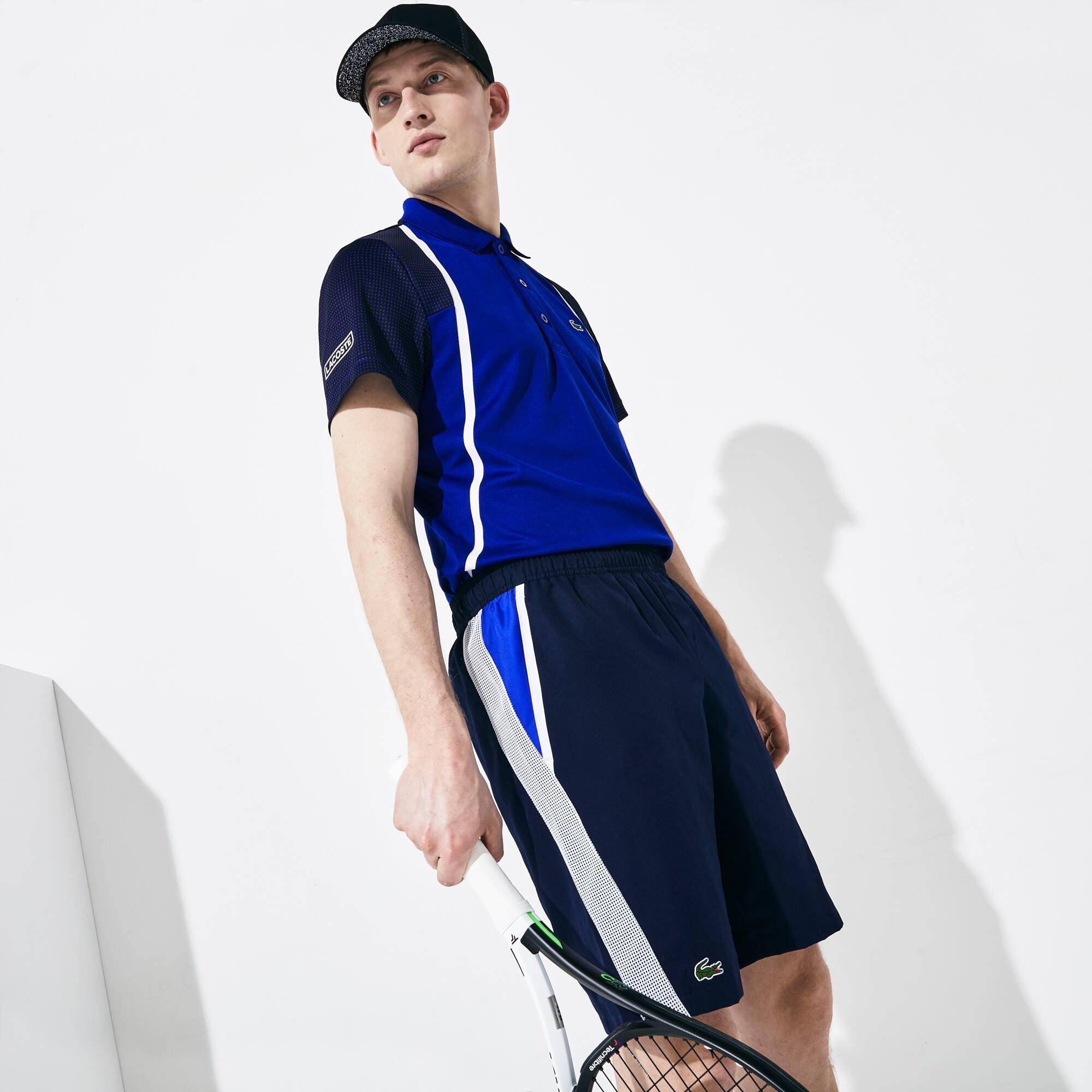 شورت رياضي للعب التنس بقصة متباينة من مجموعة LacosteSPORT للرجال