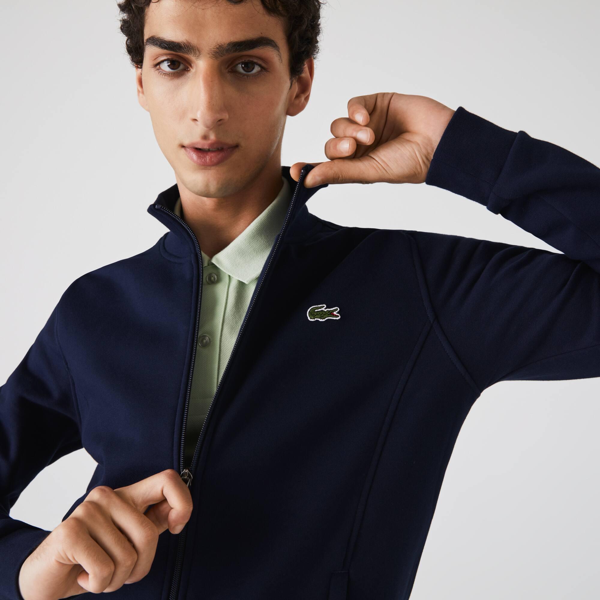 قميص ثقيل من الصوف بسحاب للرجال من مجموعة Lacoste SPORT