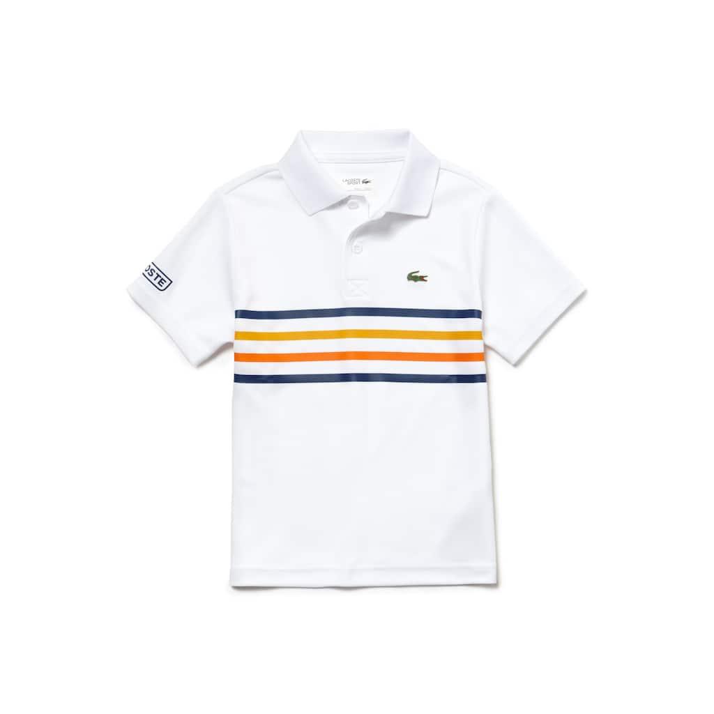 27a2d716 Boys' Lacoste SPORT Colored Bands Tech Piqué Tennis Polo Shirt | LACOSTE