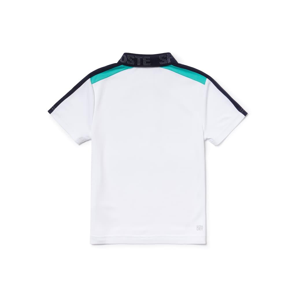 be169335580639 Boys  Lacoste SPORT Contrast Bands Piqué Tennis Polo