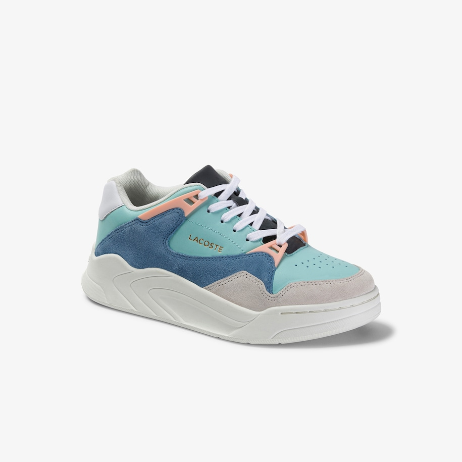 Women's Court Slam Leather and Suede Trainers