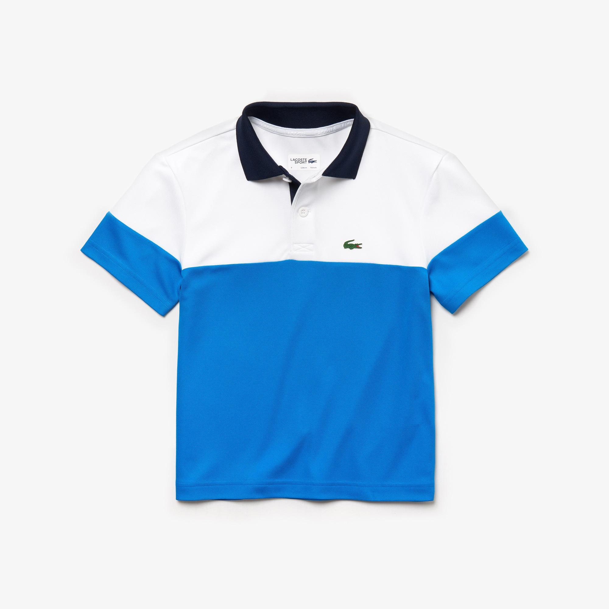 64c905dfa2 Boys' Lacoste SPORT Colourblock Breathable Piqué Tennis Polo Shirt