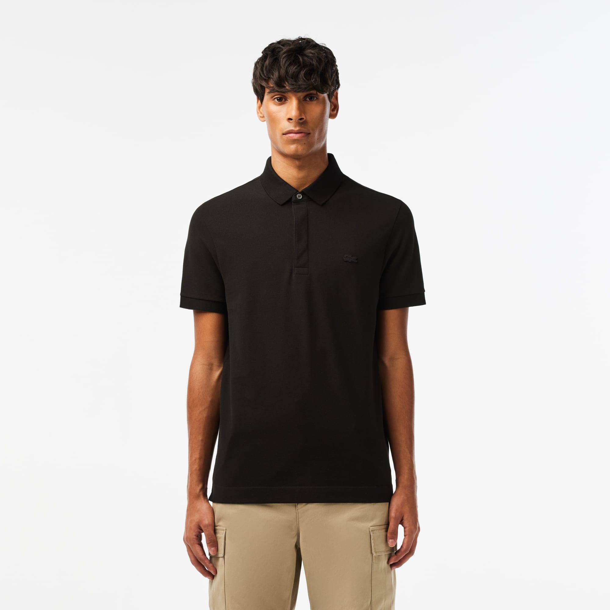 6514115fa0e3 Men s Lacoste Paris Polo Shirt Regular Fit Stretch Cotton Piqué ...