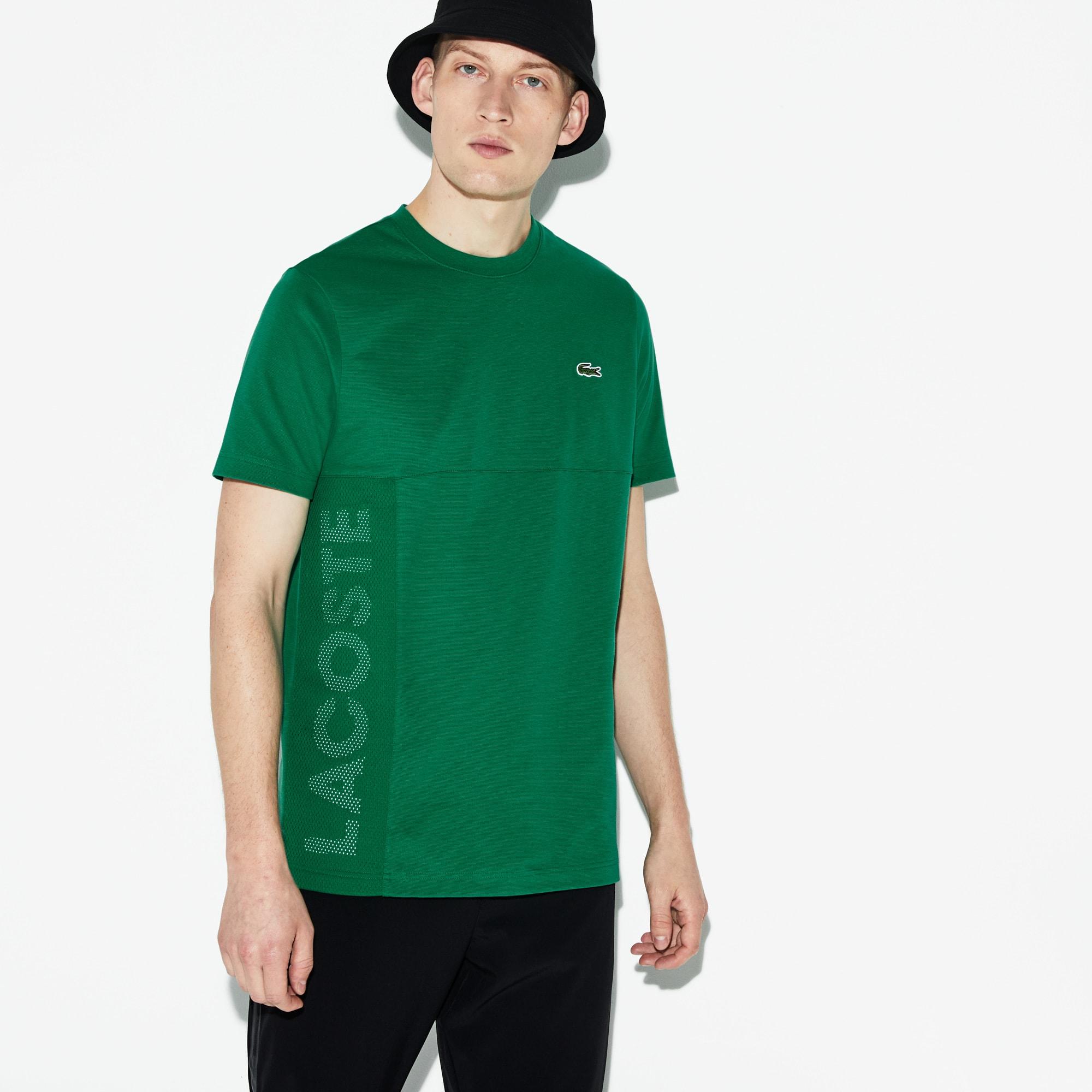 62880e9540f6 Men s Lacoste SPORT Crew Neck Lettered Ultra Light Cotton T-shirt ...
